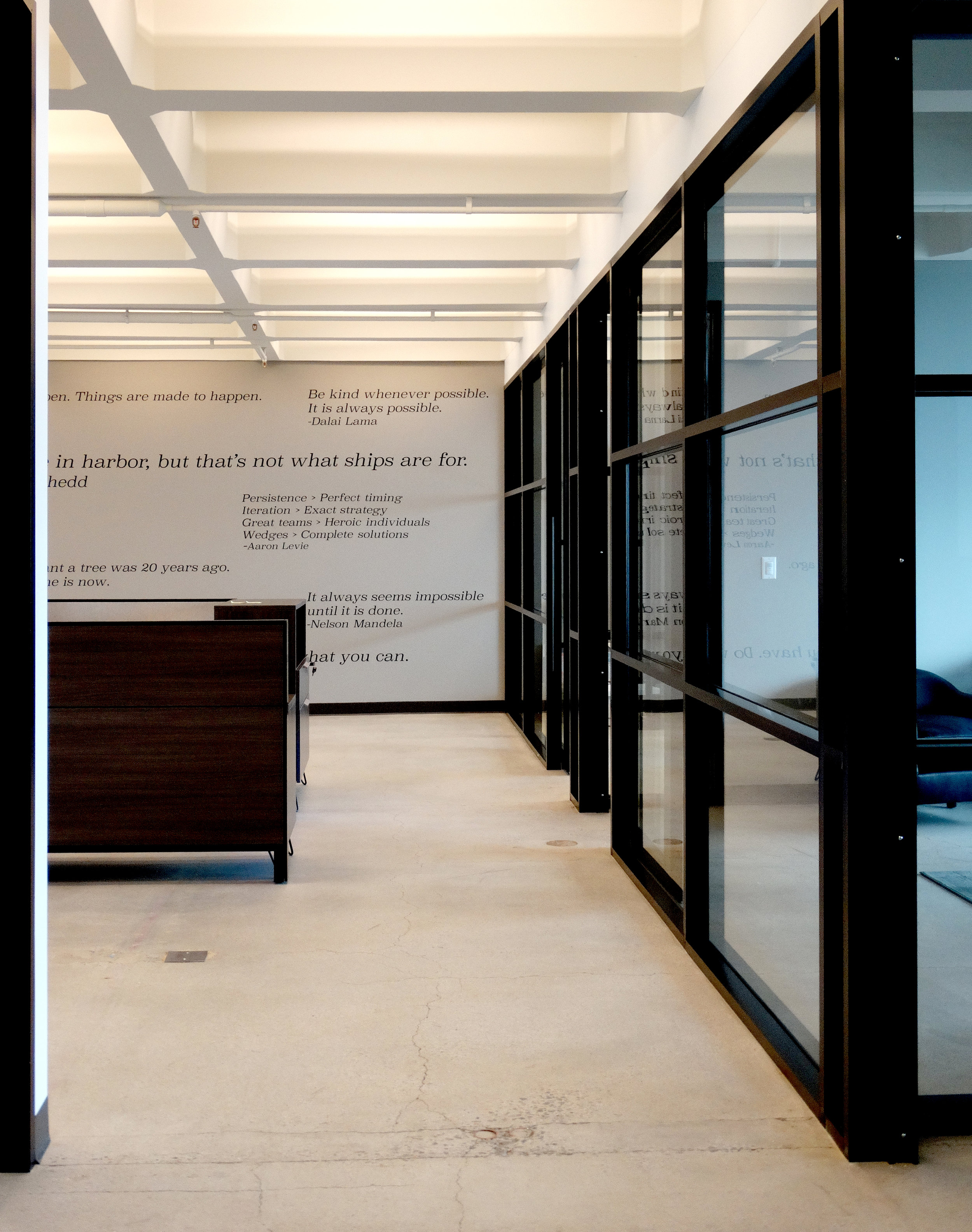 Encase Glass Statement Wall Black Aluminum Mullion System - Spaceworks AI.JPG