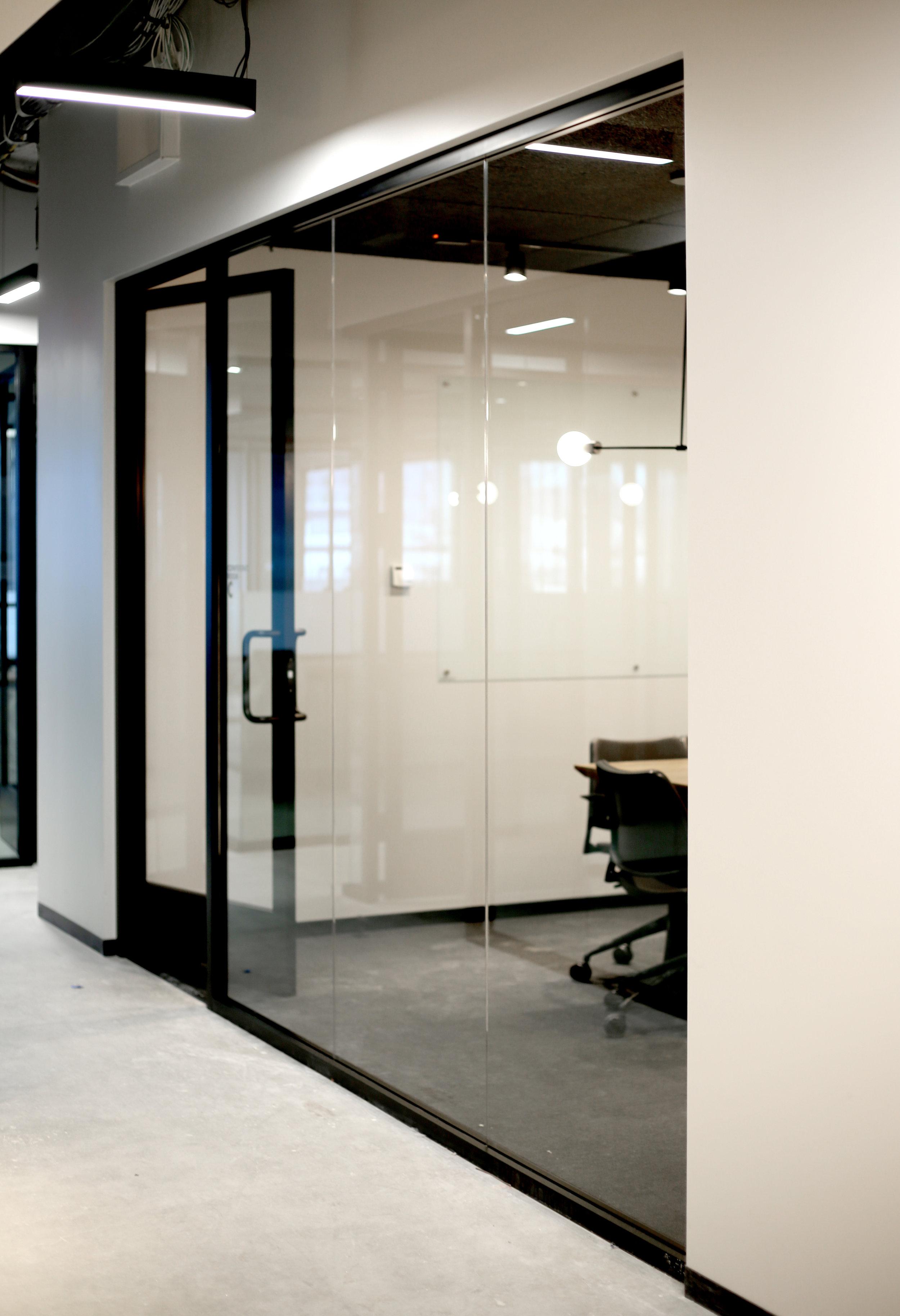 Litespace Black Aluminum Framed Door Office Front - Spaceworks AI.jpg