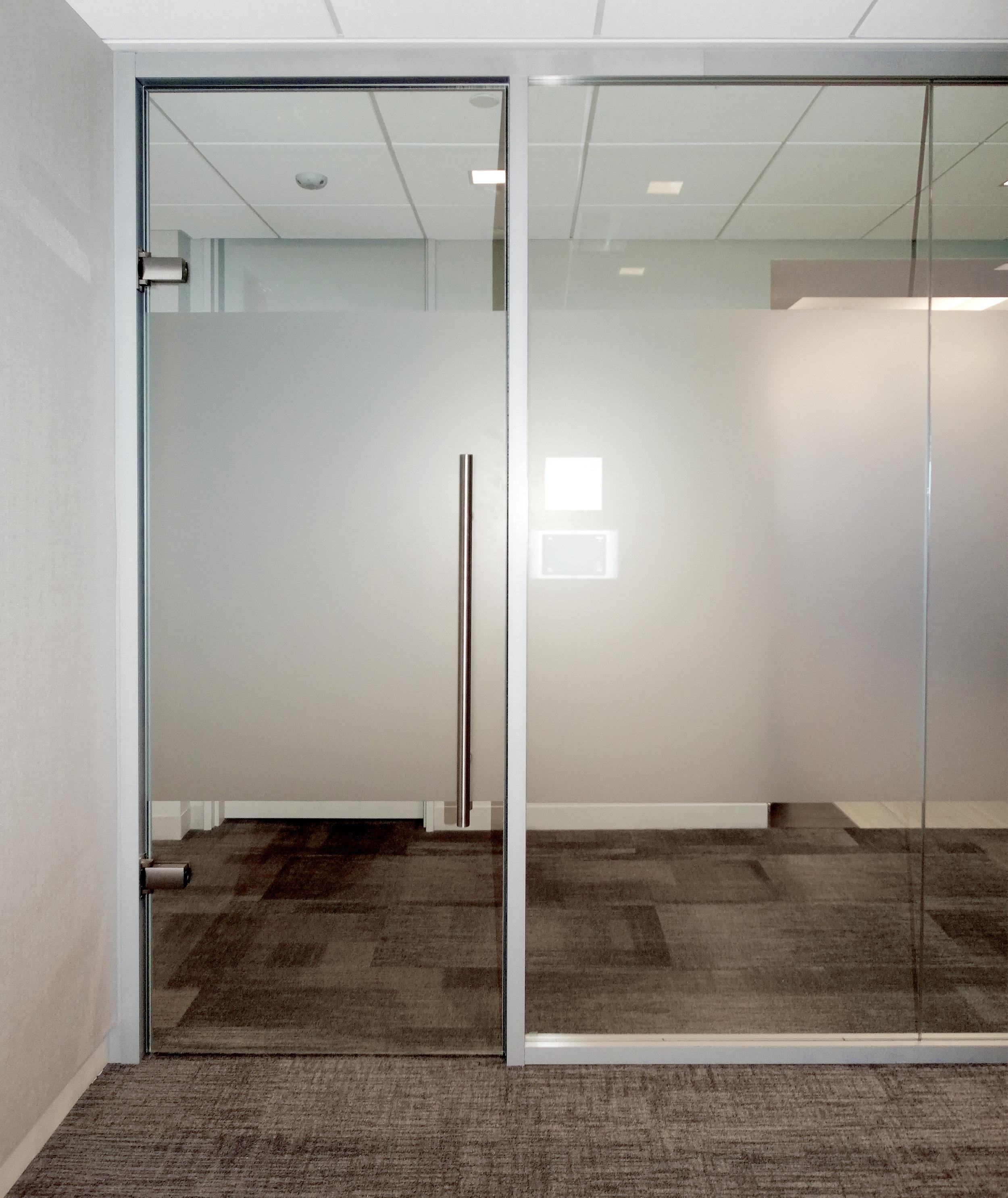 Litespace Demountable Aluminum Framing System Frameless Glass Door - Spaceworks AI.jpg