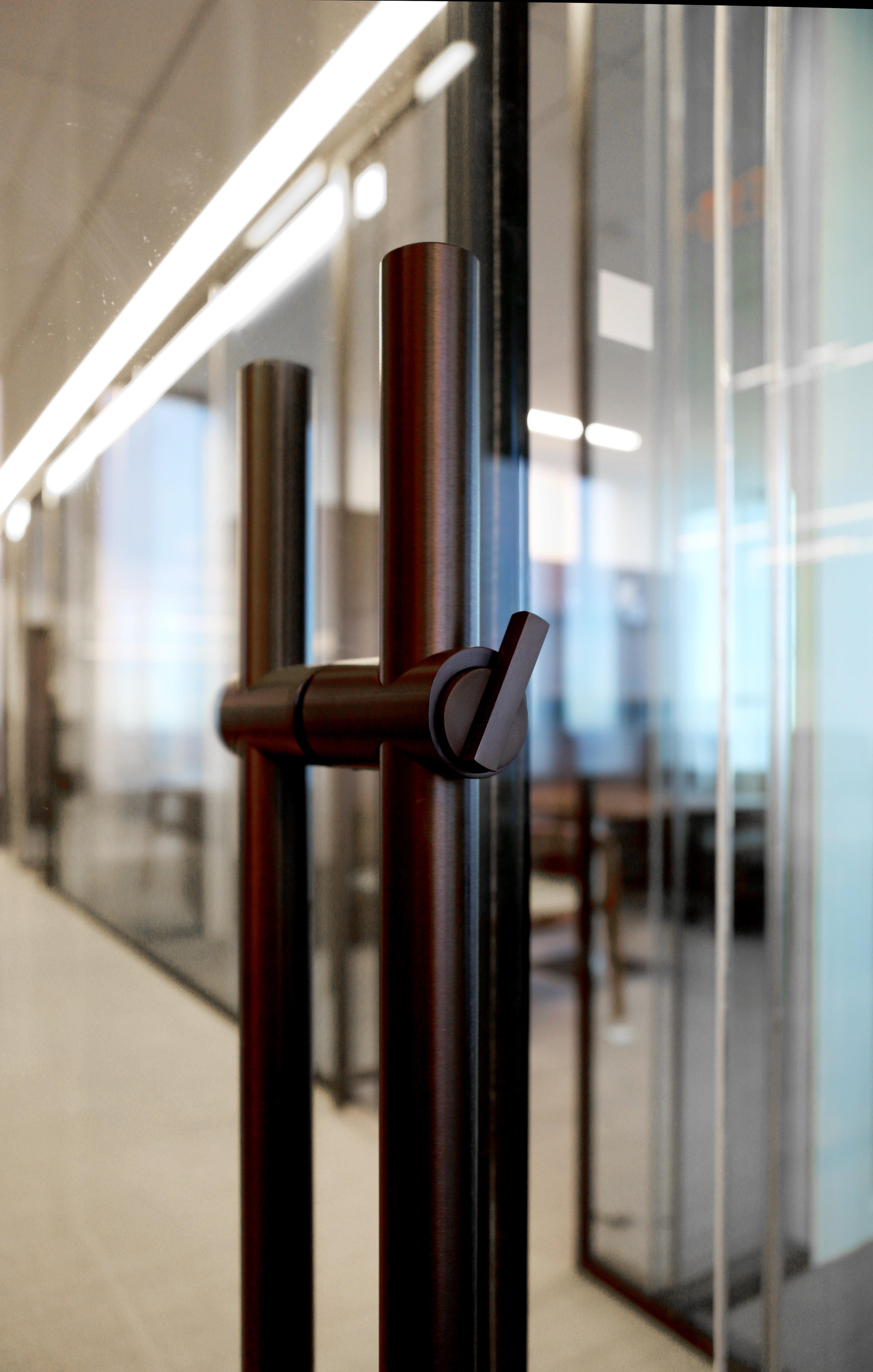 Modernus Dark Anodized Locking Ladder Pull ADA Thumb Turn - Spaceworks AI.jpg