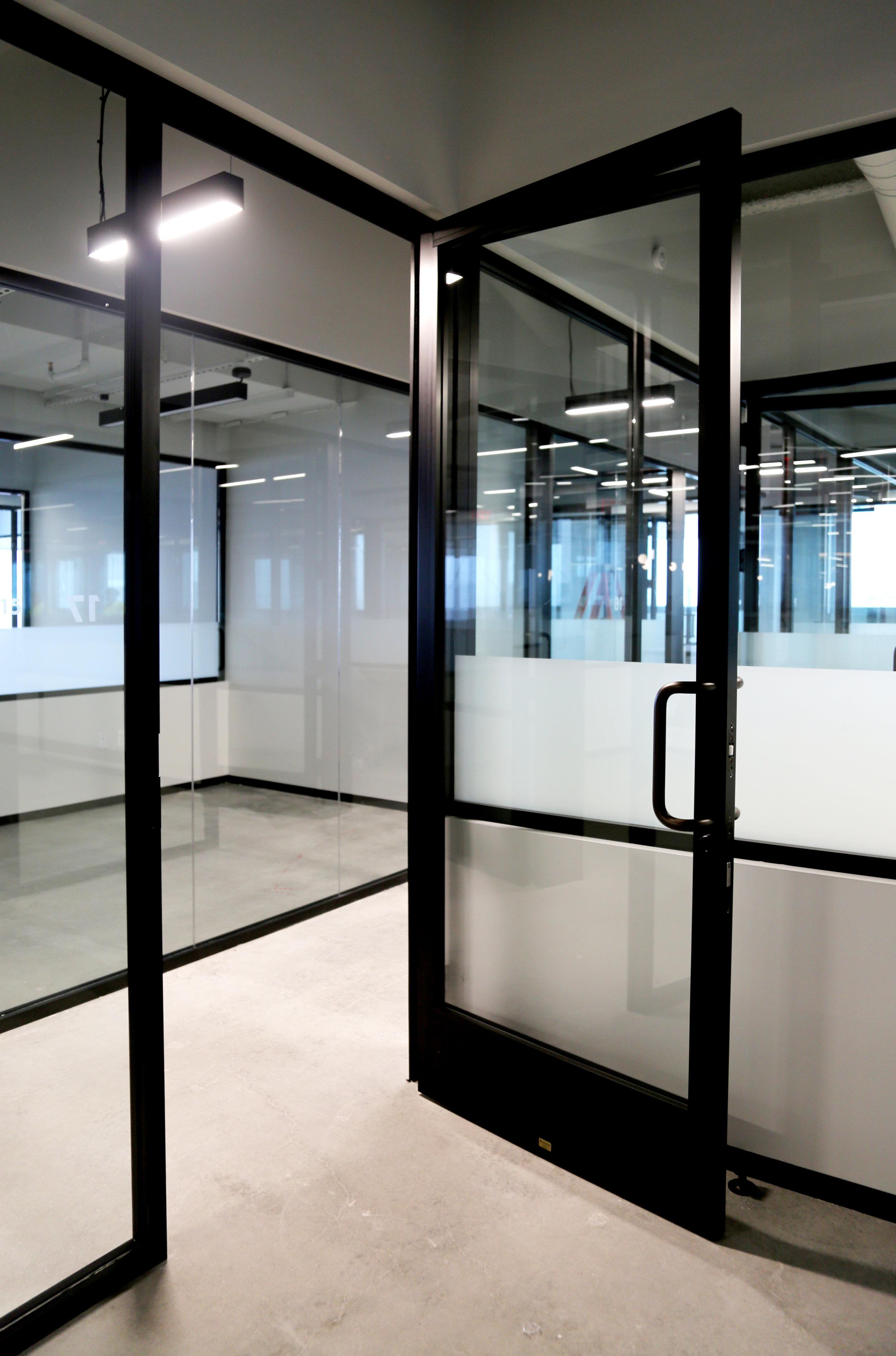 Litespace Black Aluminum Glass Door - Spaceworks AI.jpg