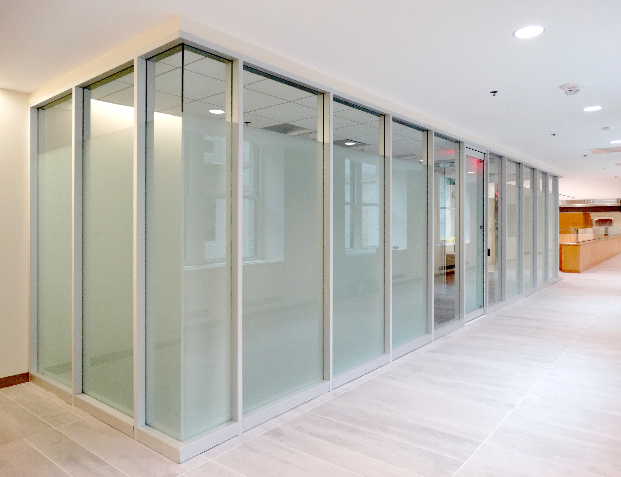 Encase Aluminum Framed Glass Wall Corner Turn Room - Spaceworks AI.jpg