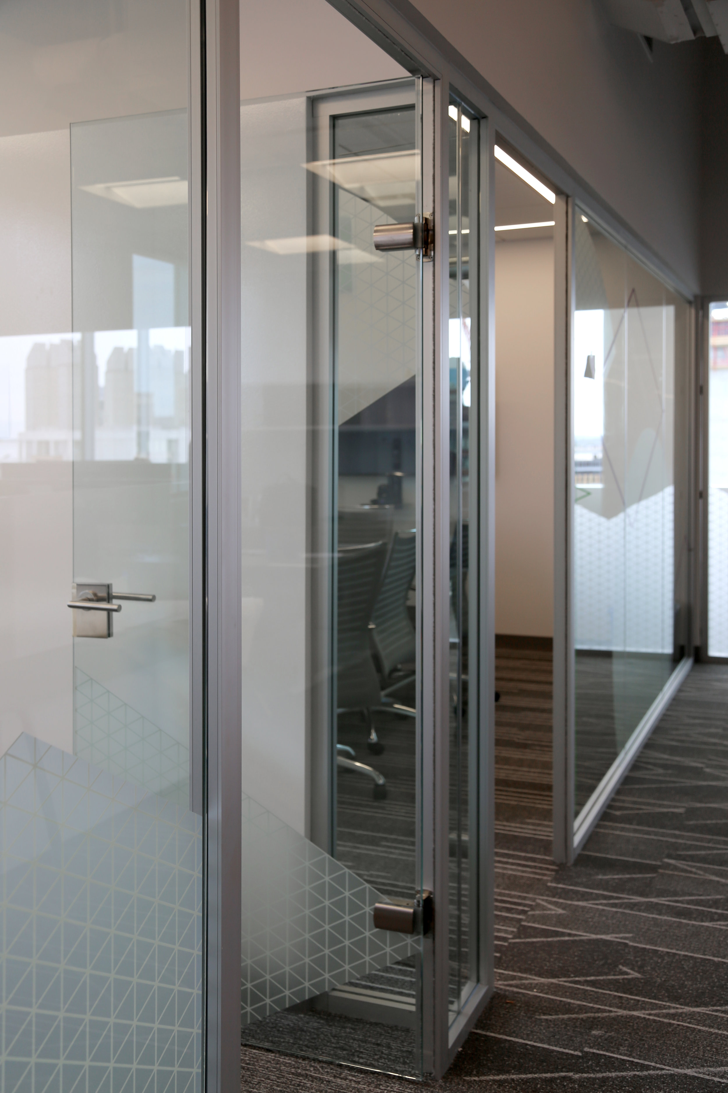 Litespace Aluminum Demountable Wall System Frameless Glass Door - Spaceworks AI.jpg