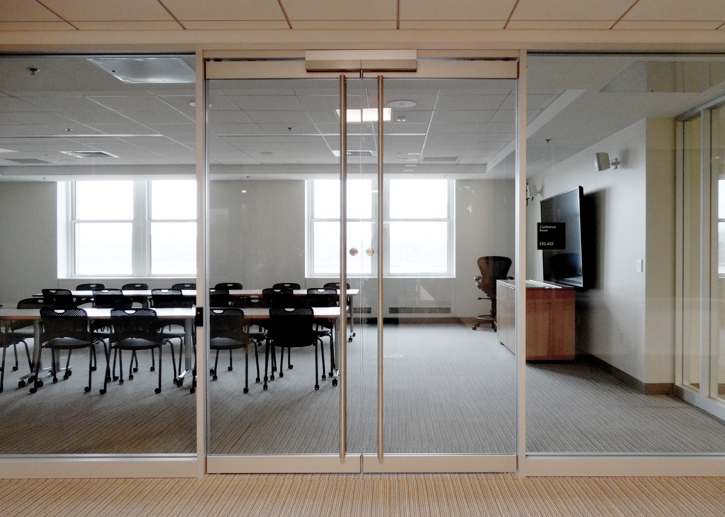 Encase Aluminum Framed Wall Frameless Glass Double Maglock Door - Spaceworks AI.jpg