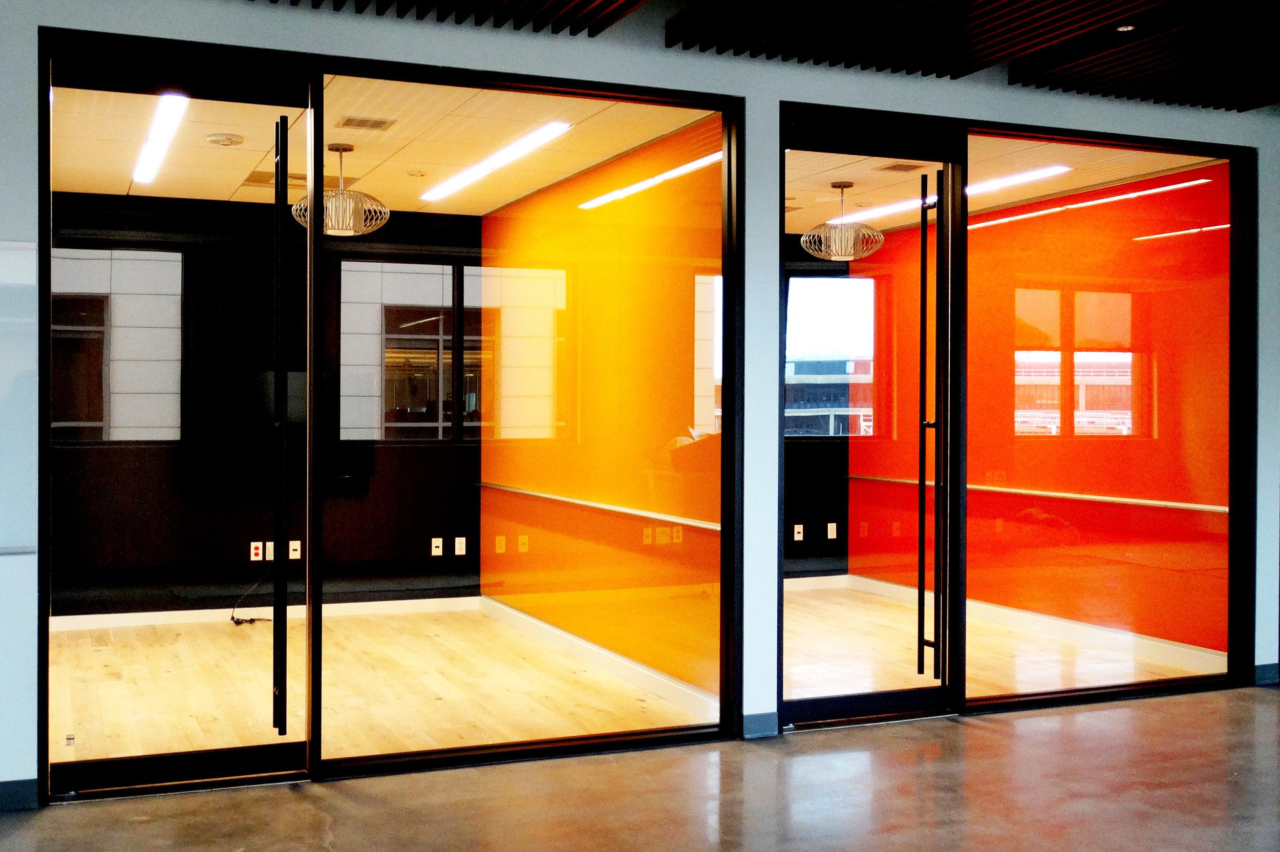 Encase Black Aluminum Framed Glass Wall Frameless Glass Rail Doors - Spaceworks AI.jpg
