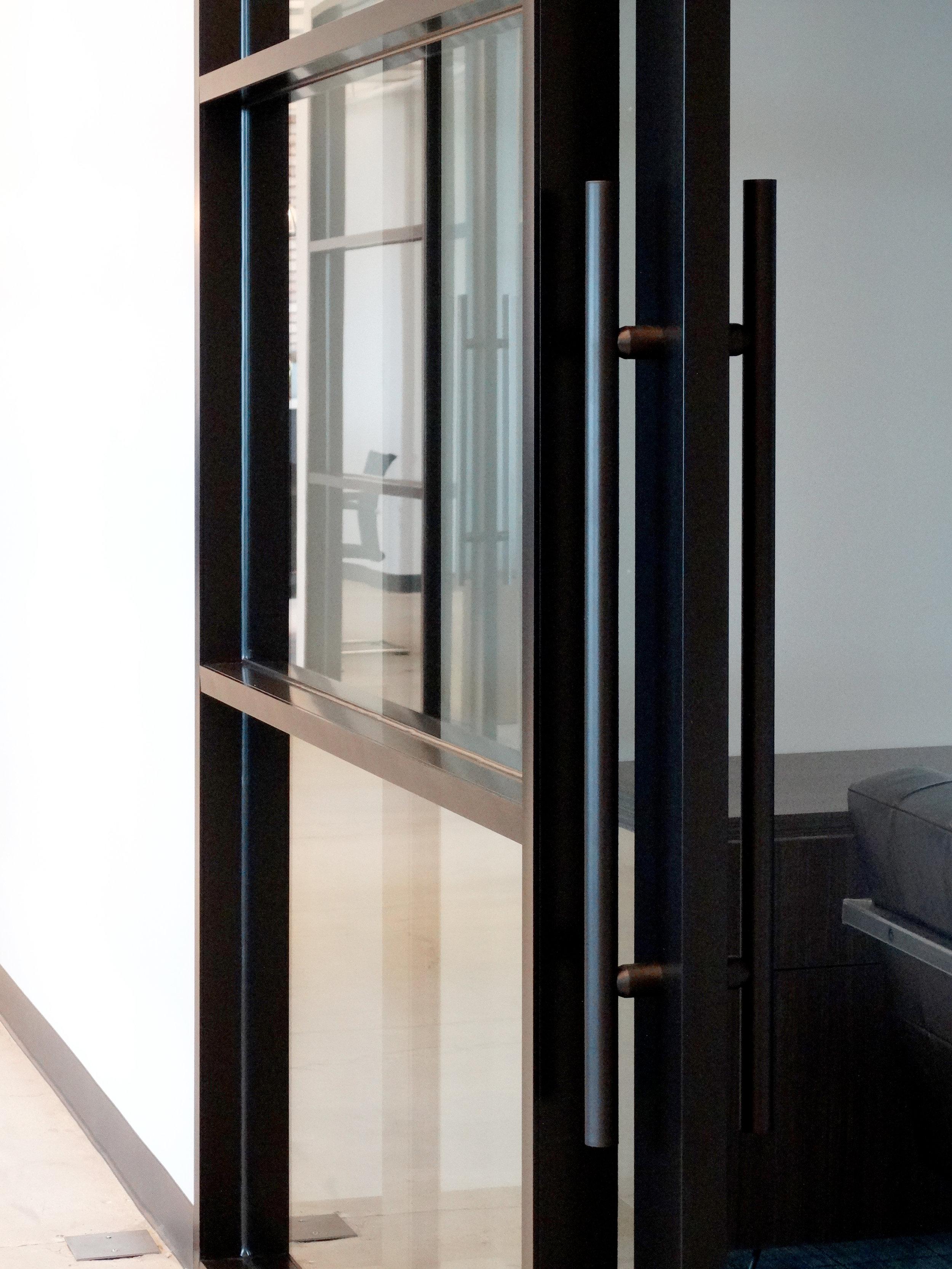 Encase Black Powder Coat Aluminum Framed Sliding Door - Spaceworks AI.JPG