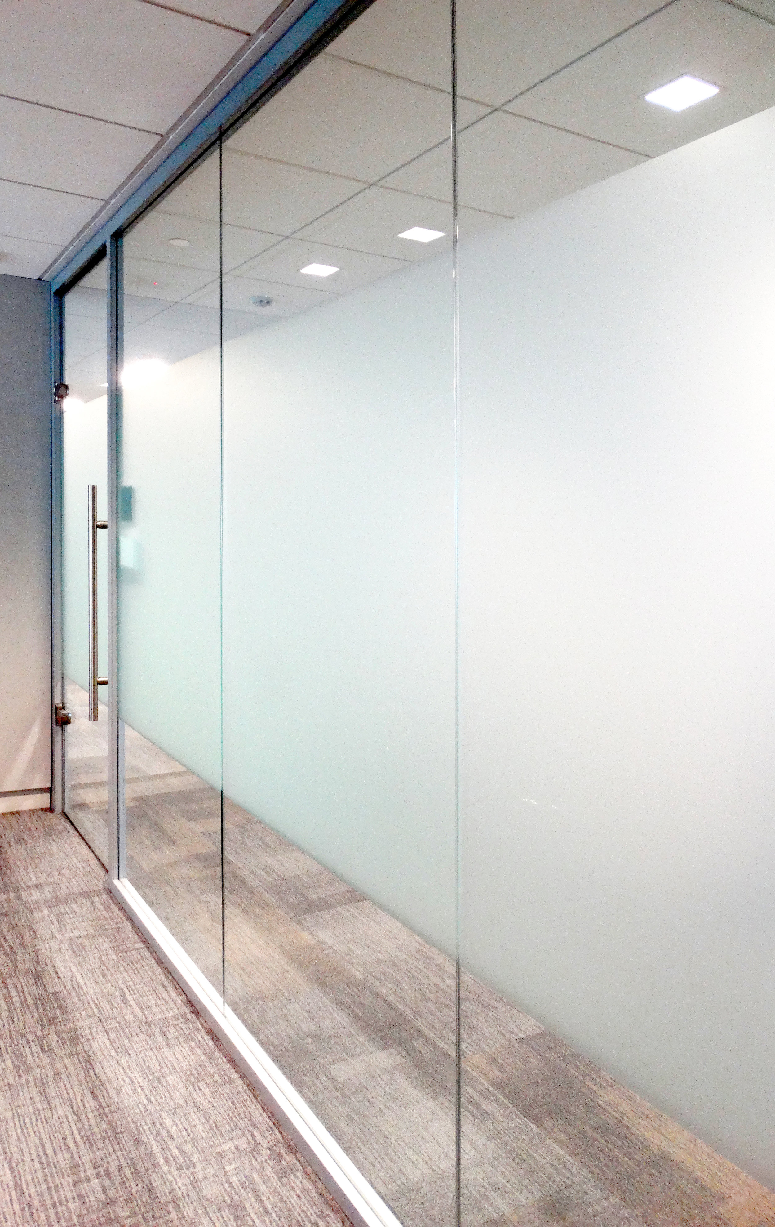 Litespace Aluminum Framed Glass Office Front Film Band - Spaceworks AI.jpg