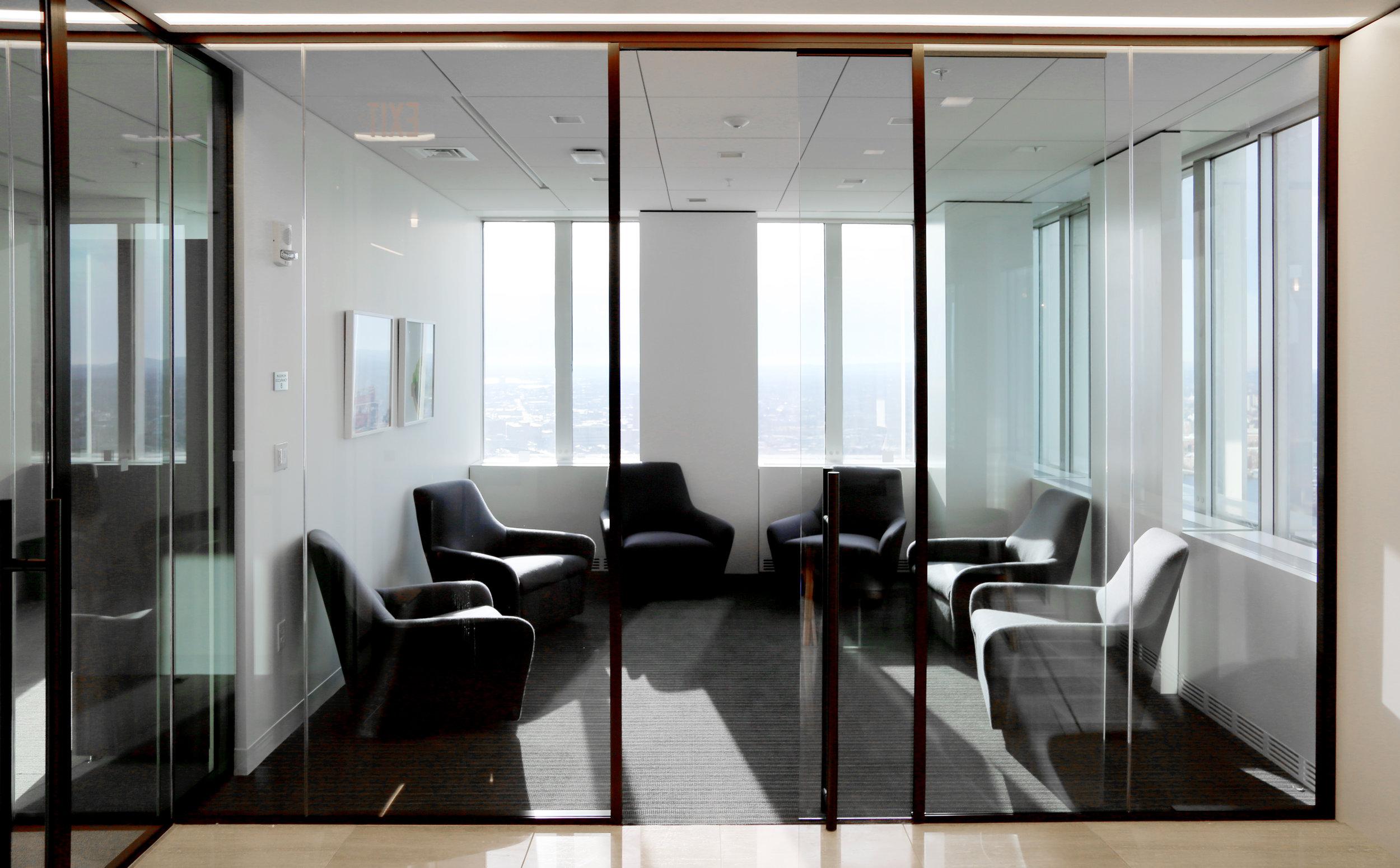 Modernus Glass Huddle Room Glass Sliding Door - Spaceworks AI.jpg