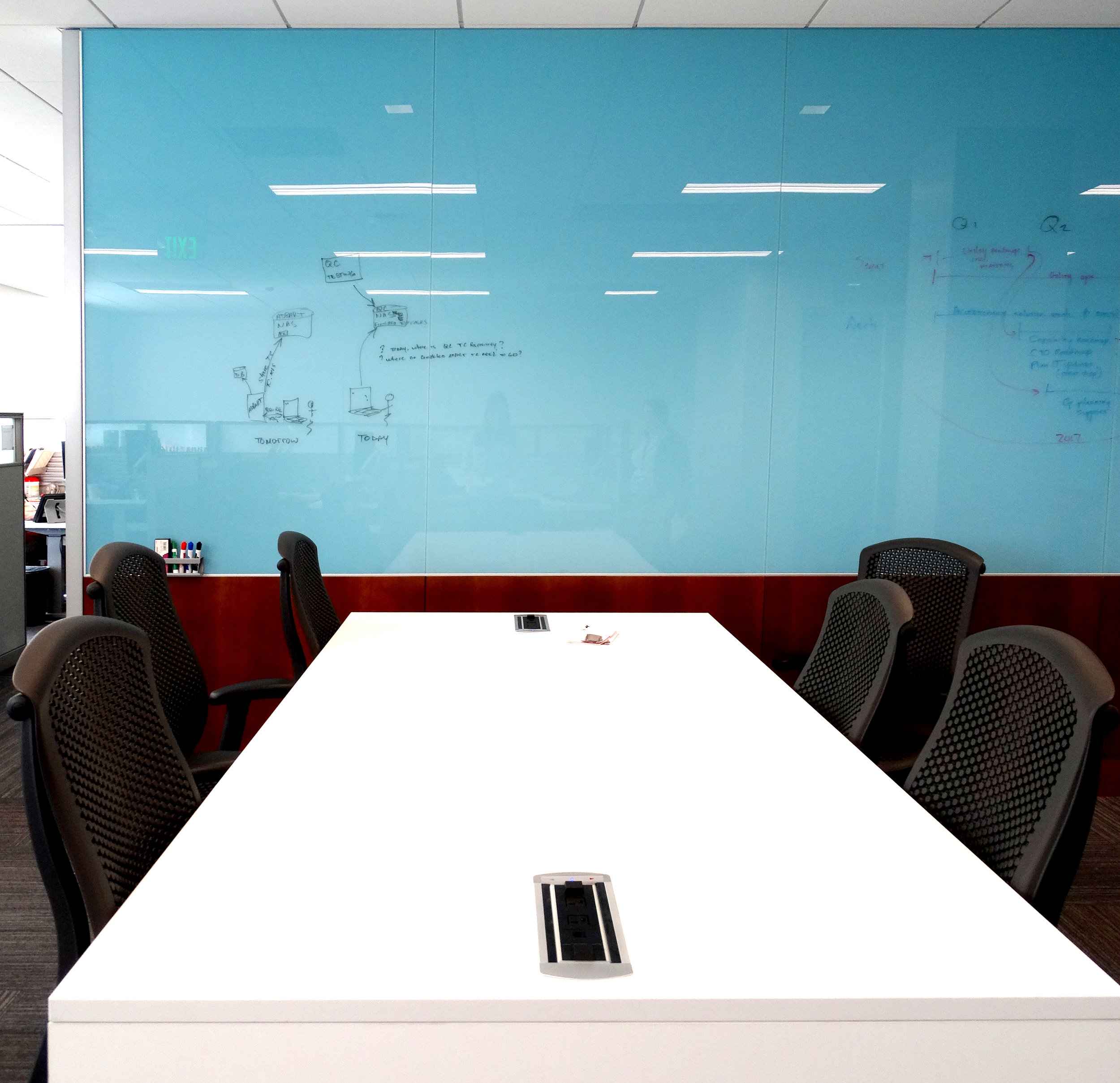 Custom Color Blue Specialty Glass Marker Board - Spaceworks AI.jpg