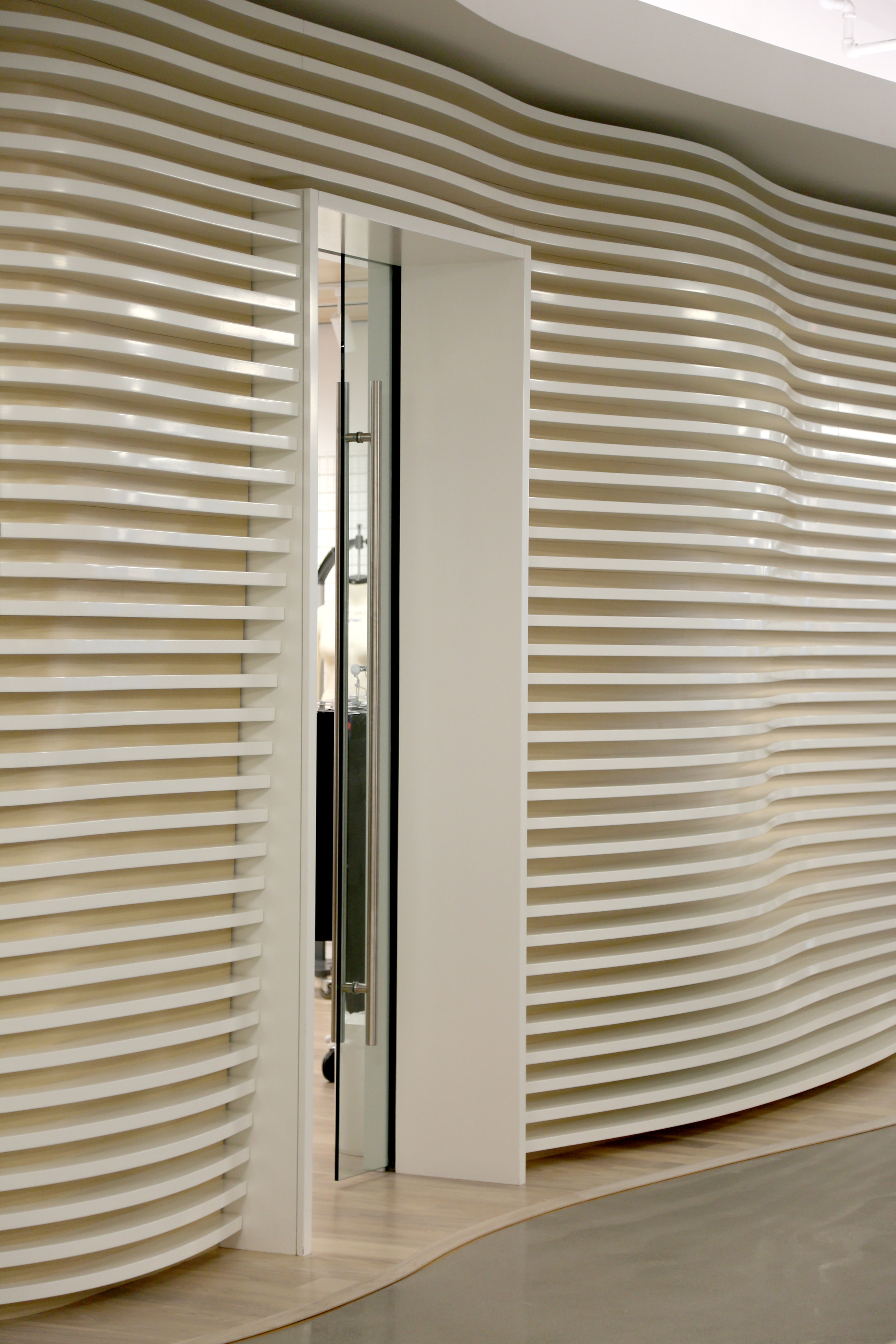 Millwork Portal Glass Pocket Door - Spaceworks AI