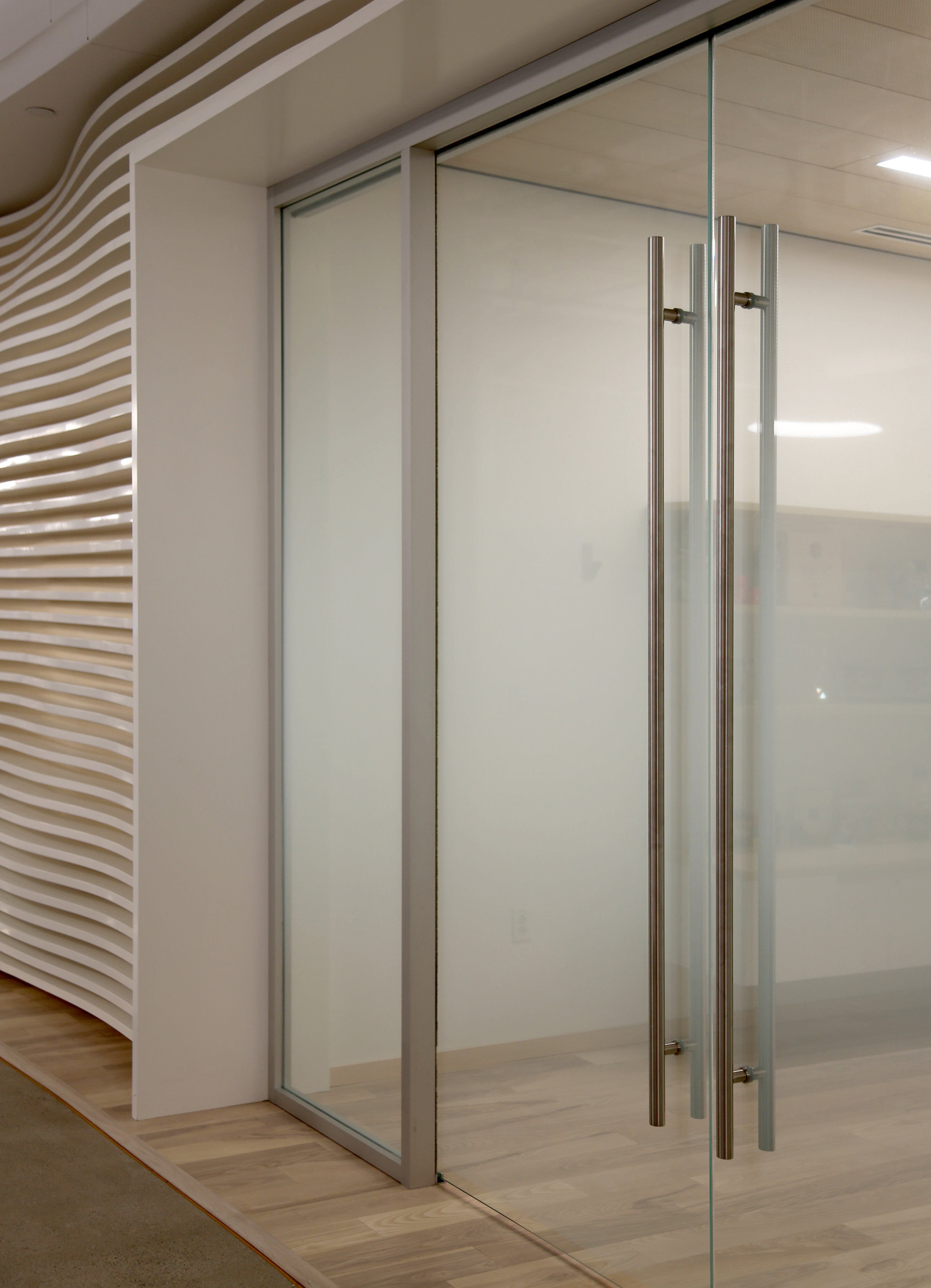 Glass Bi-Parting Sliding Double Door - Spaceworks AI