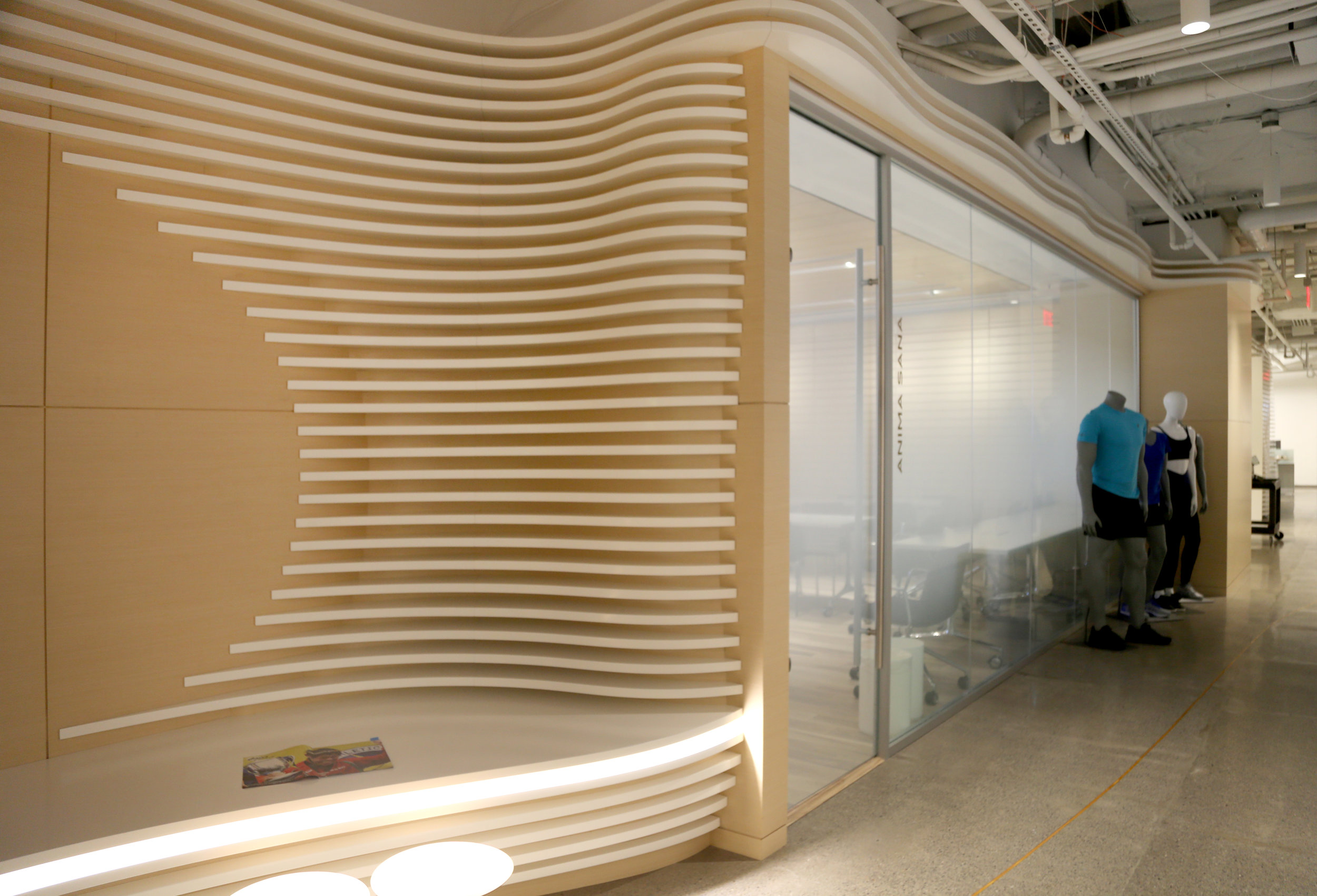 Custom Millwork Litespace Office Front - Spaceworks AI