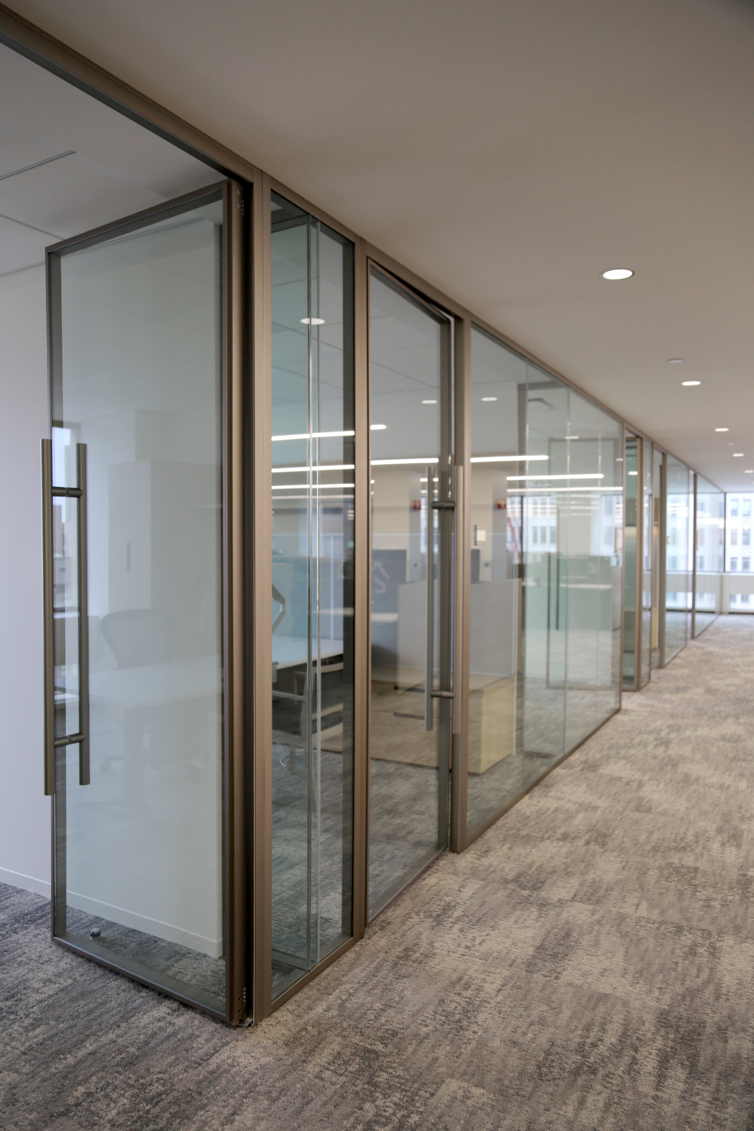 Champagne Anodized Light Framed Glass Wall Demountable System - Spaceworks AI.jpg