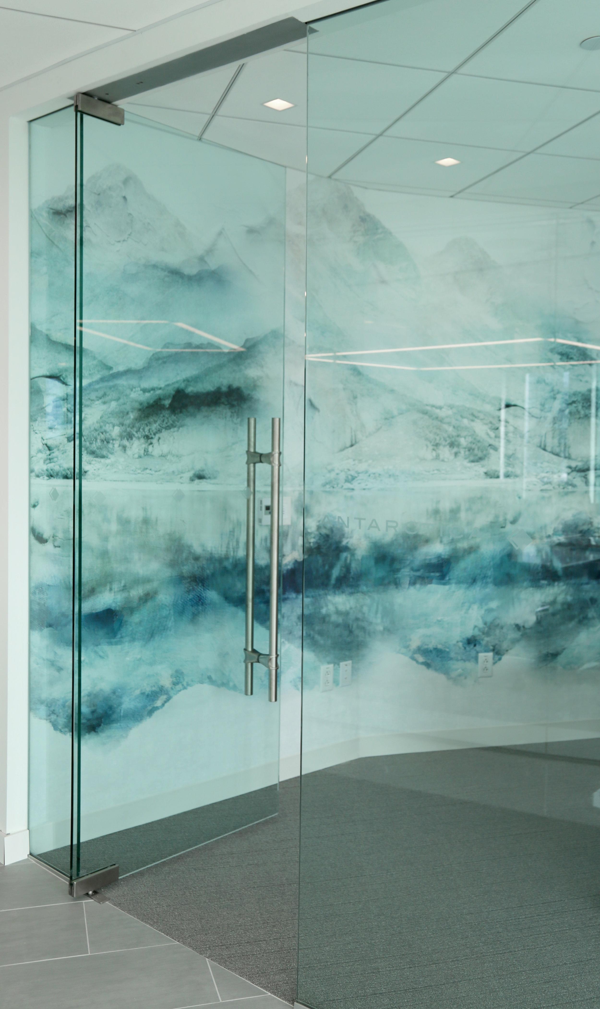 Frameless Glass Conference Room Center Glass Pivot Door - Spaceworks AI.jpg