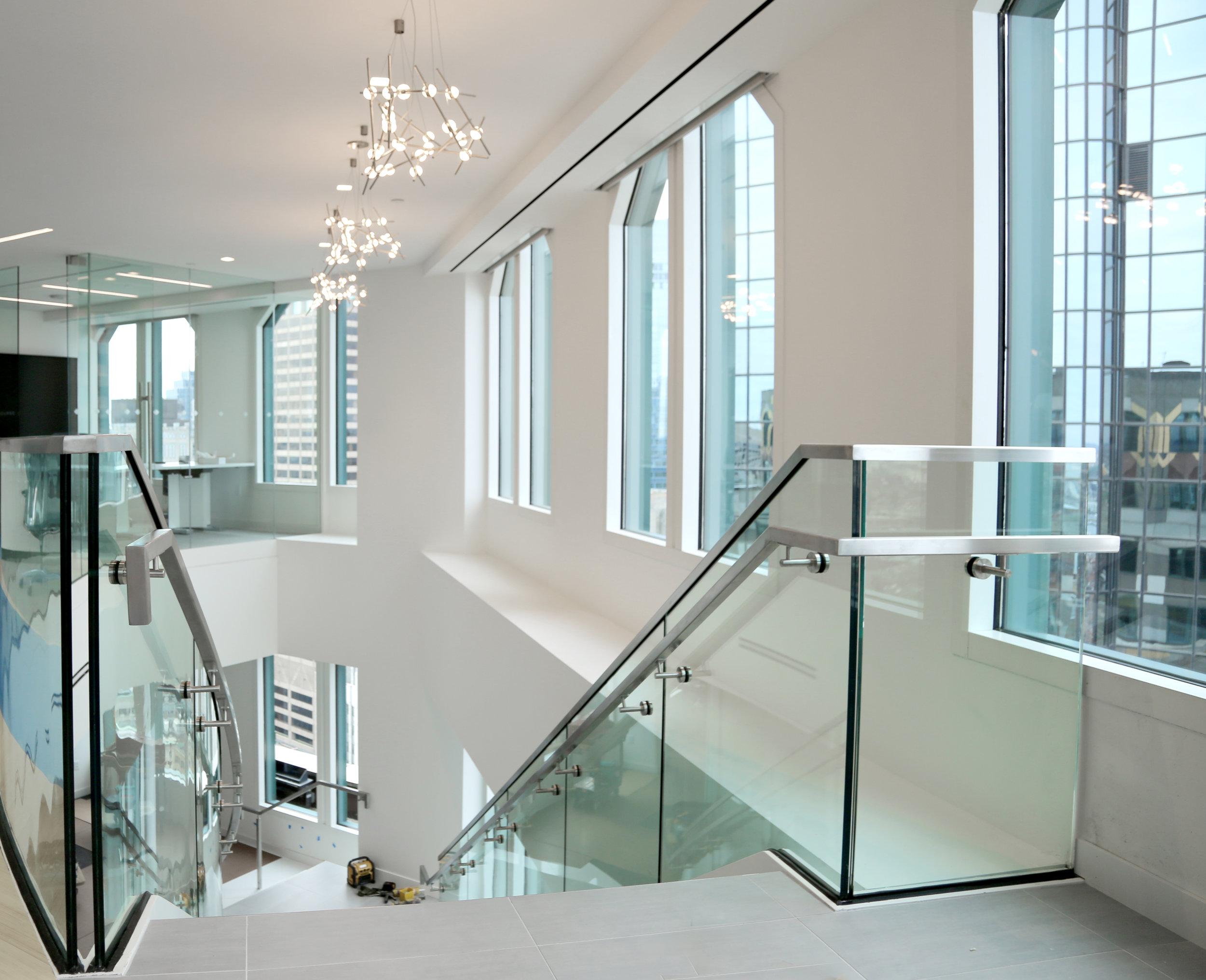 Frameless Glass Staircase Metal Stair Railing - Spaceworks AI.jpg
