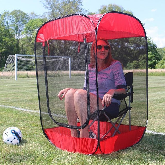 "So here is to all of our homeschool""soccer moms"" those who hated sports growing up, who have 9,573,327 other responsibilities to fill these precious conscious hours with, those who multitask better than anyone has a right to, to those who either ..:know more about soccer than us coaches or know nothing but come and cheer anyway. Most of all, here is to the introverts and the tired who, while they could just drop off the kids and go enjoy that blessed peace and quiet, come out and cheer and scream with the best of them! And while this little shame pod of personal space looks appealing, no one has brought one yet.  happy Mother's Day Warhawks moms!!! We love you all and could not do this without you!"