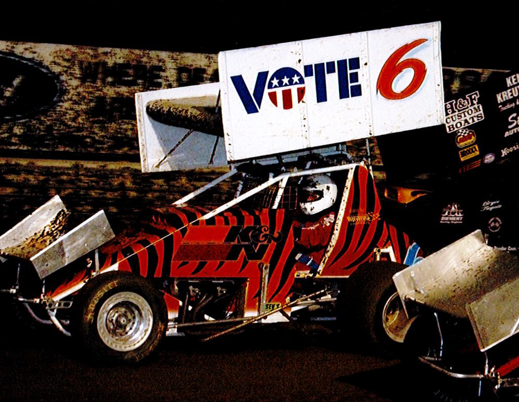 One of Gabe's many race car paint schemes done completely by hand. Photo provided by Champ Avery