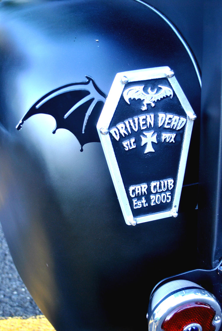 The main logo for the Driven Dead is the casket. This is a marker that Bub put on his truck to signify that he is a member