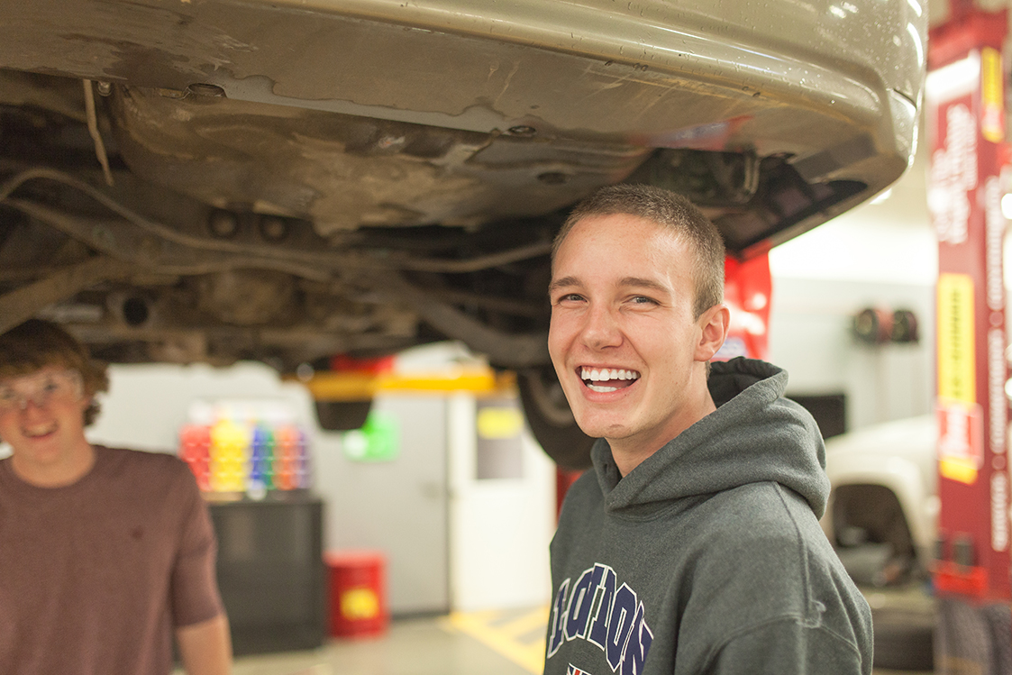 Students at work in our Automotive Learning Center.