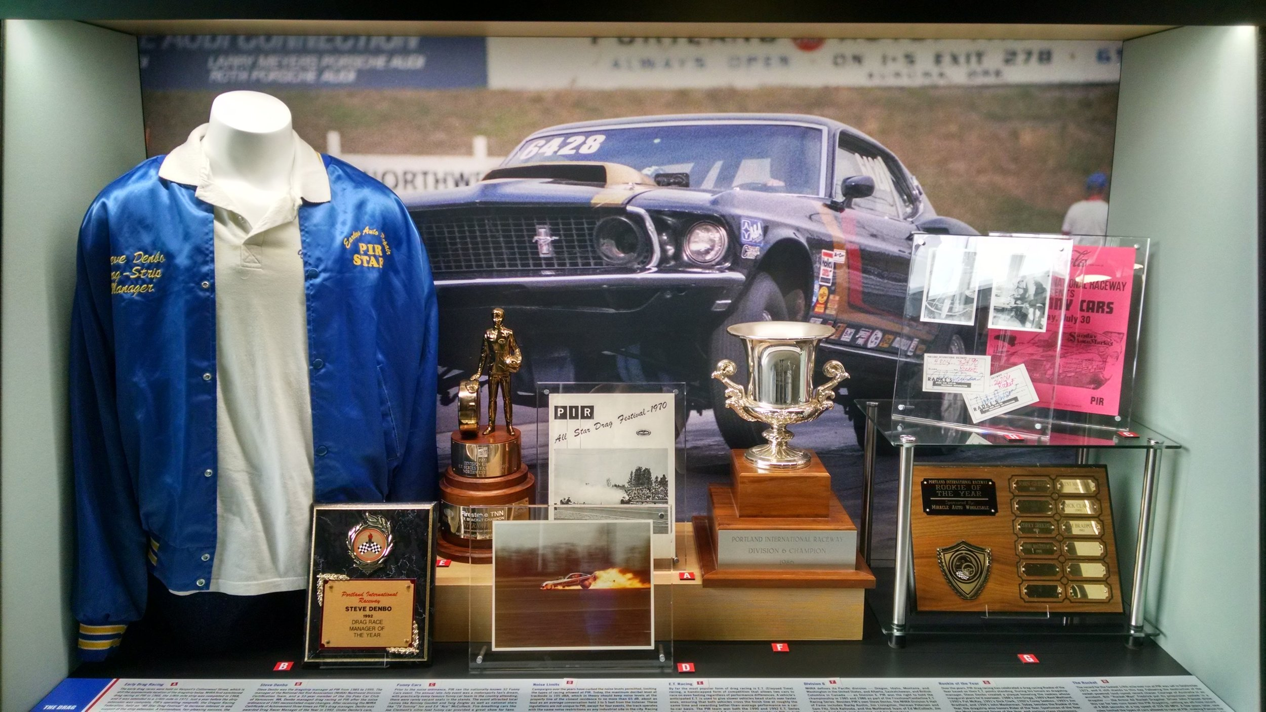 A few of the items Steve picked from the Denbo collection included in the PIR exhibit.