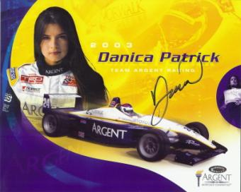 Signed fan card from the World of Speed Archive