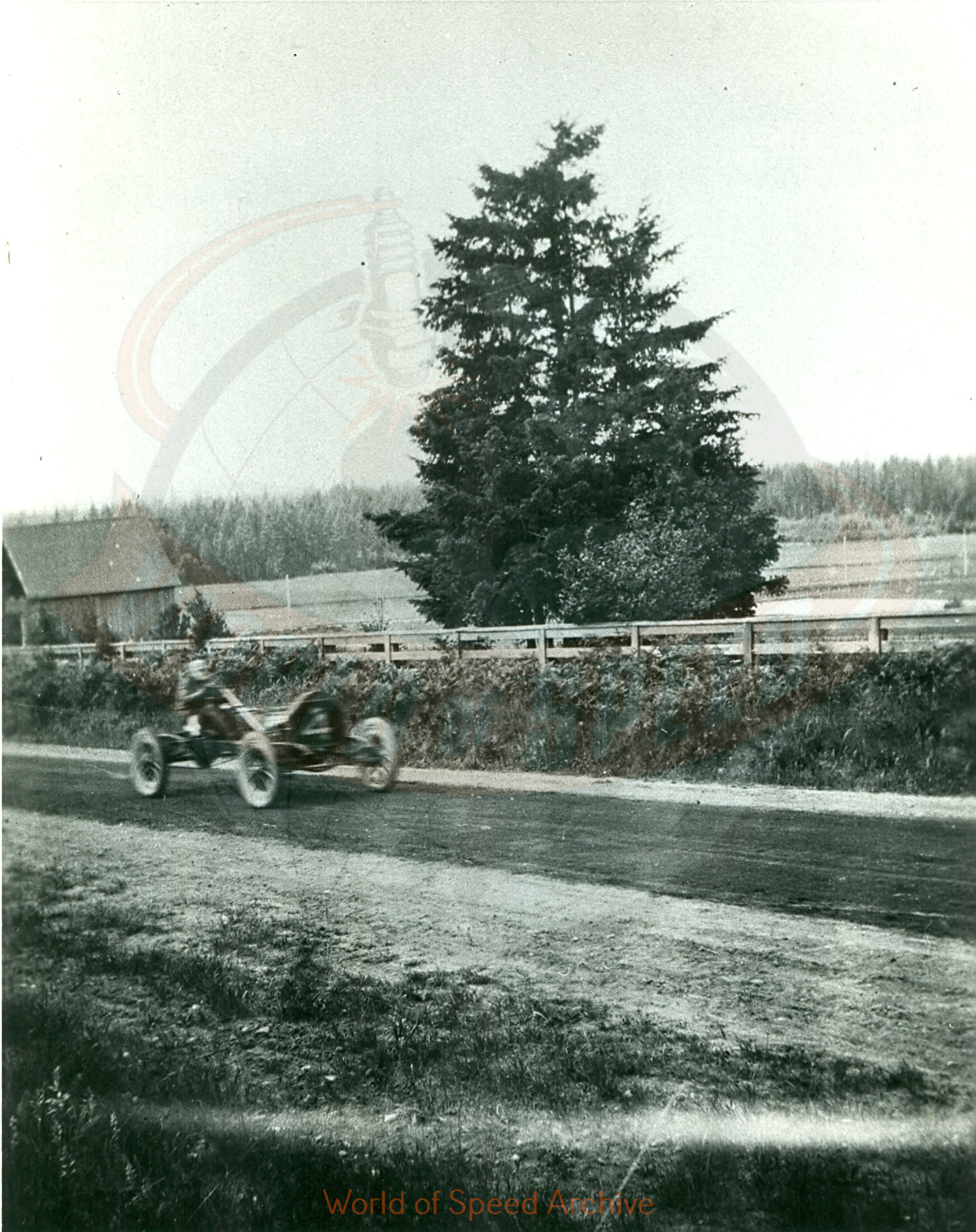 Back of photograph reads: Top of Vance Hill looking NW