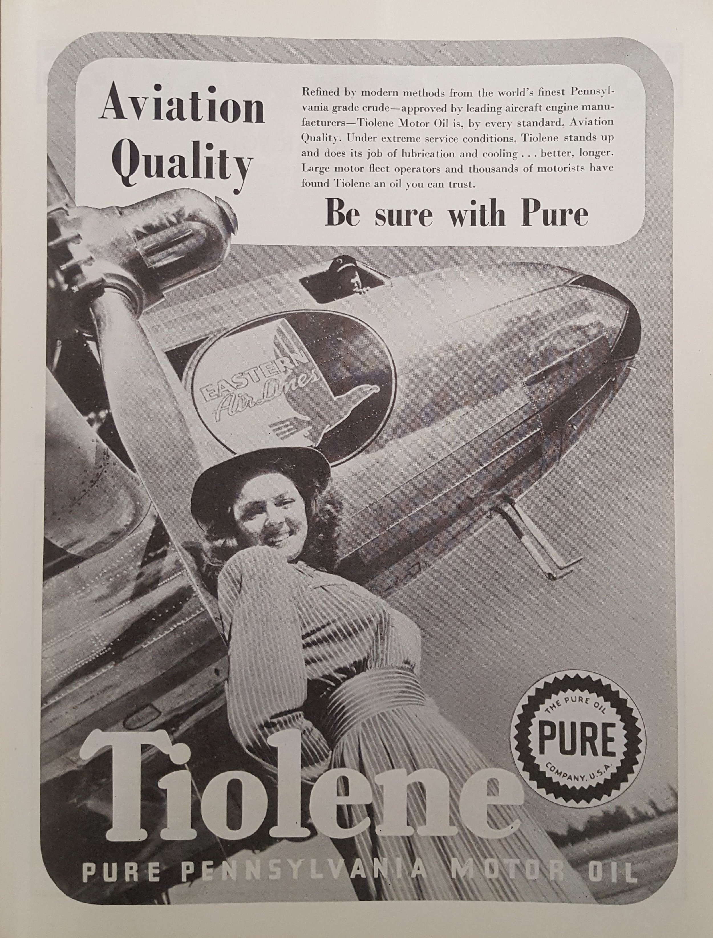 Tiolene Motor Oil Advertisement, Indianapolis 500 Program, 1941, page 33, WOS#2729