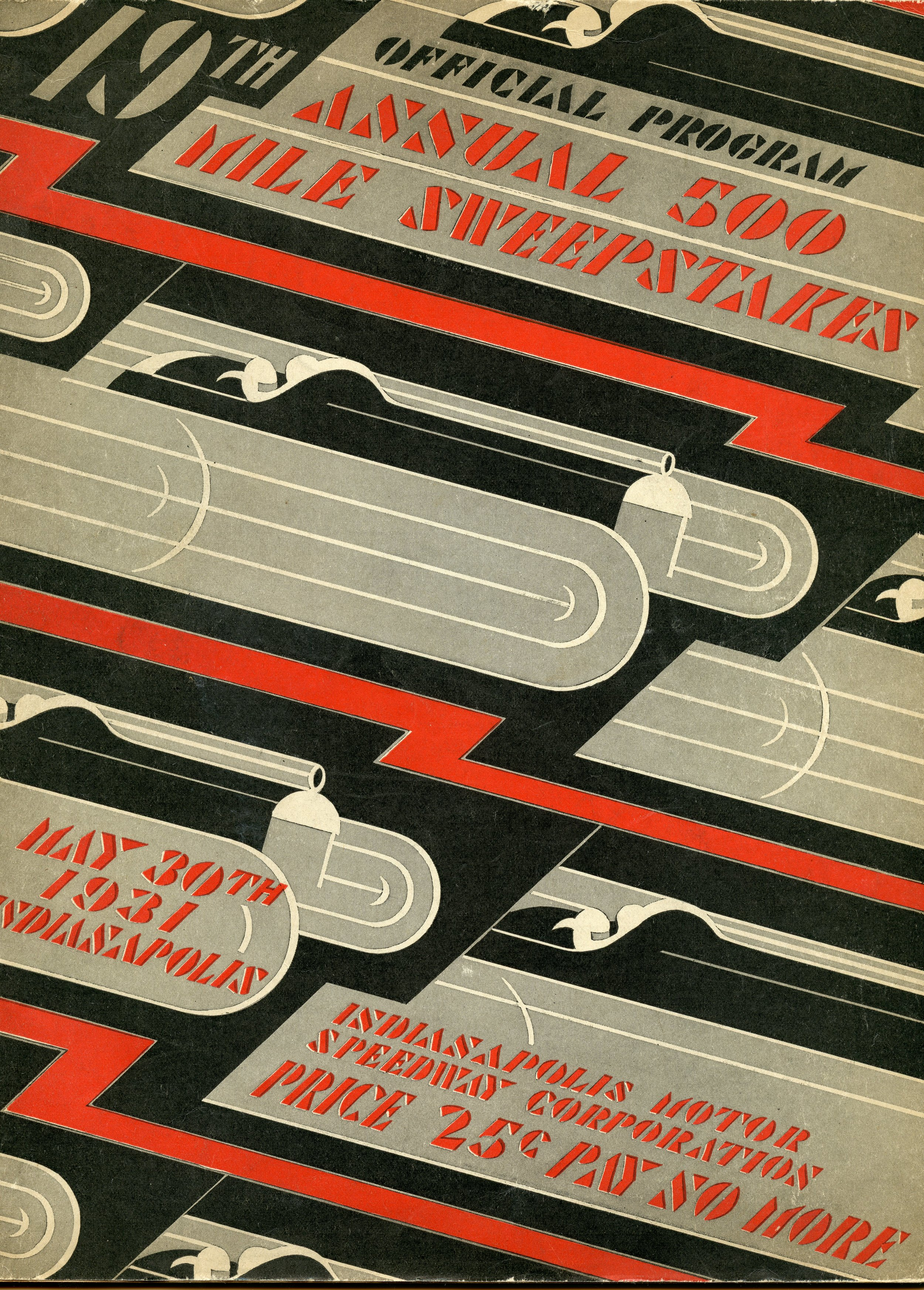 Indianapolis 500 Program Cover, 1931, WOS#3212