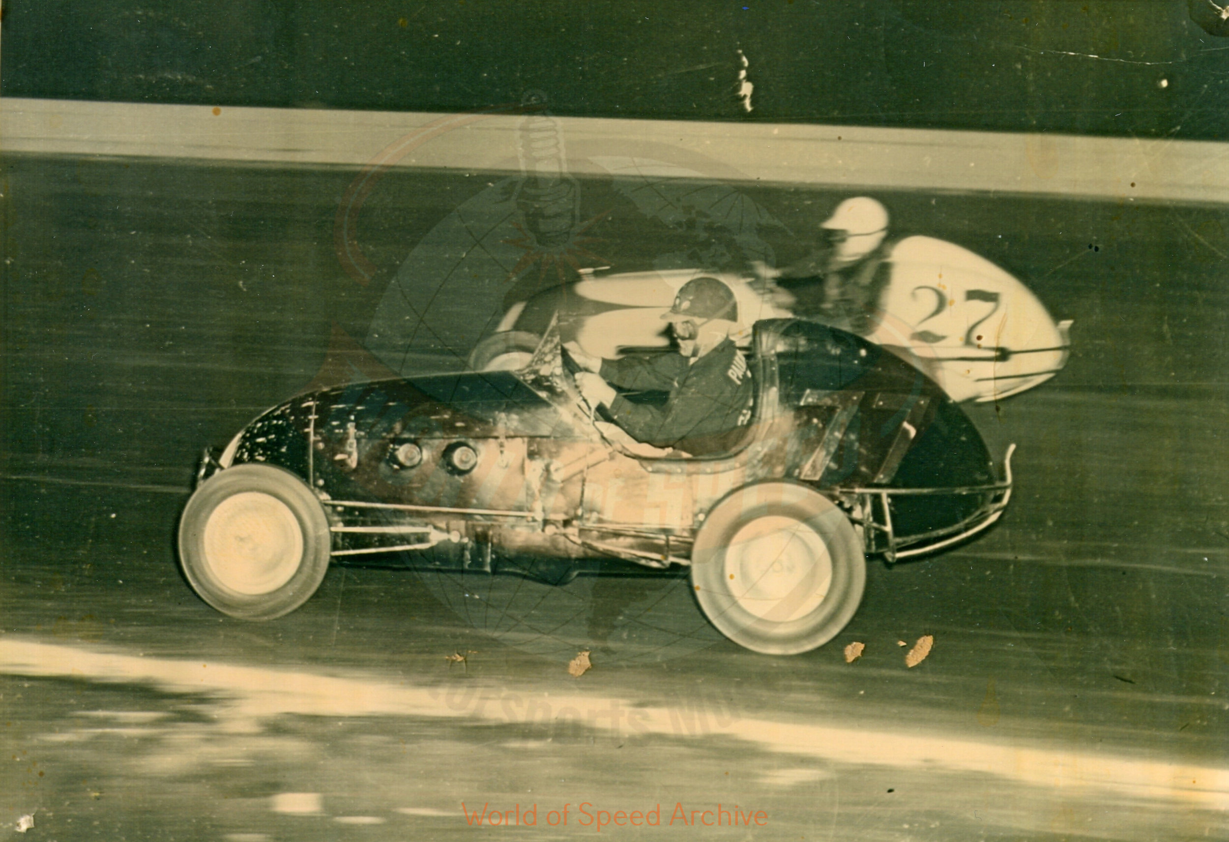 Hildick Photo Collection WOS#5072, BH010  Received submission:  #77 Louie Sherman, #27 Wade Althuser, 1948