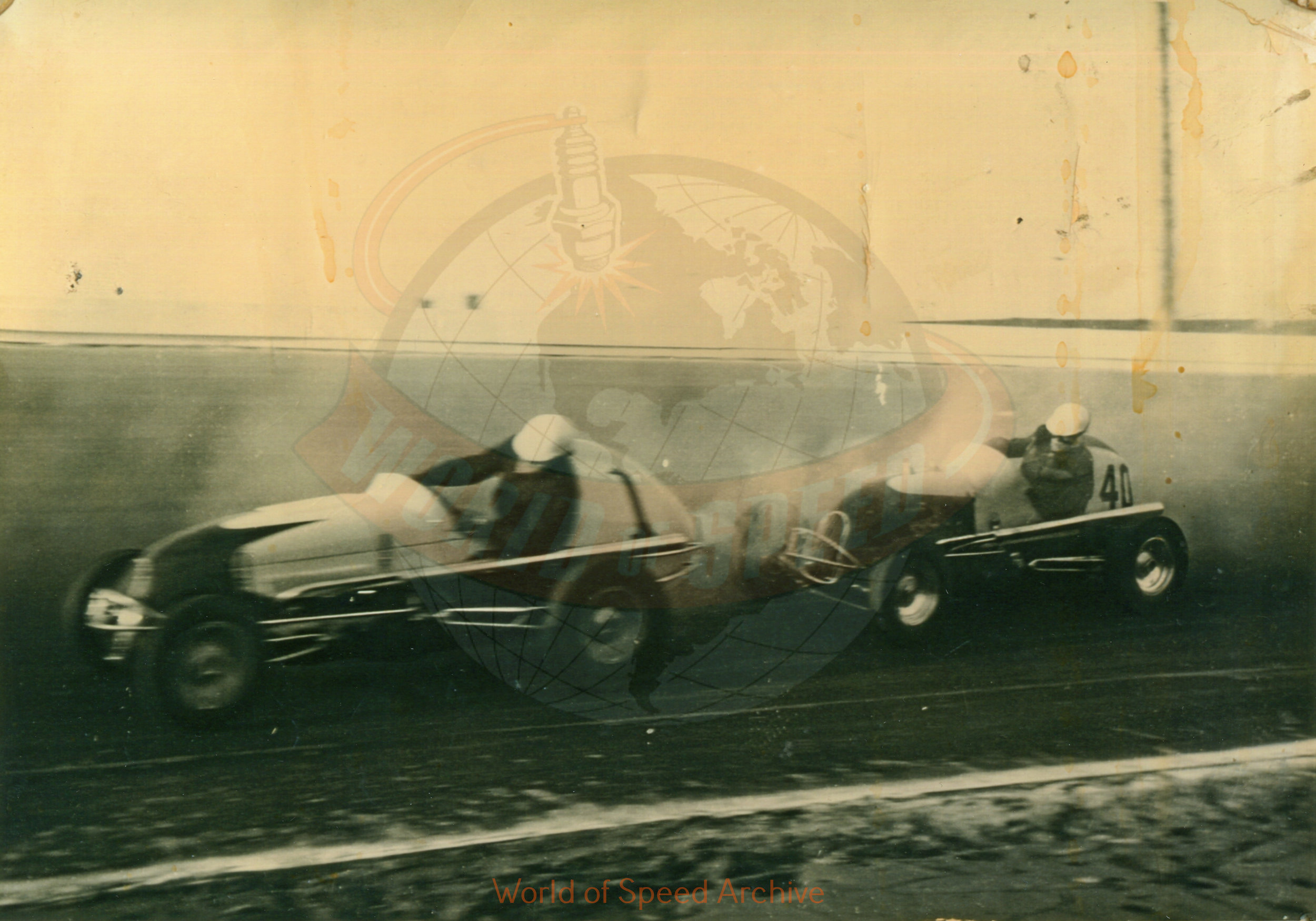 Hildick Photo Collection WOS#5072, BH014  Received submission:  #1 Bob Vorbeck, #40 George Amick (owner Syd Carr)