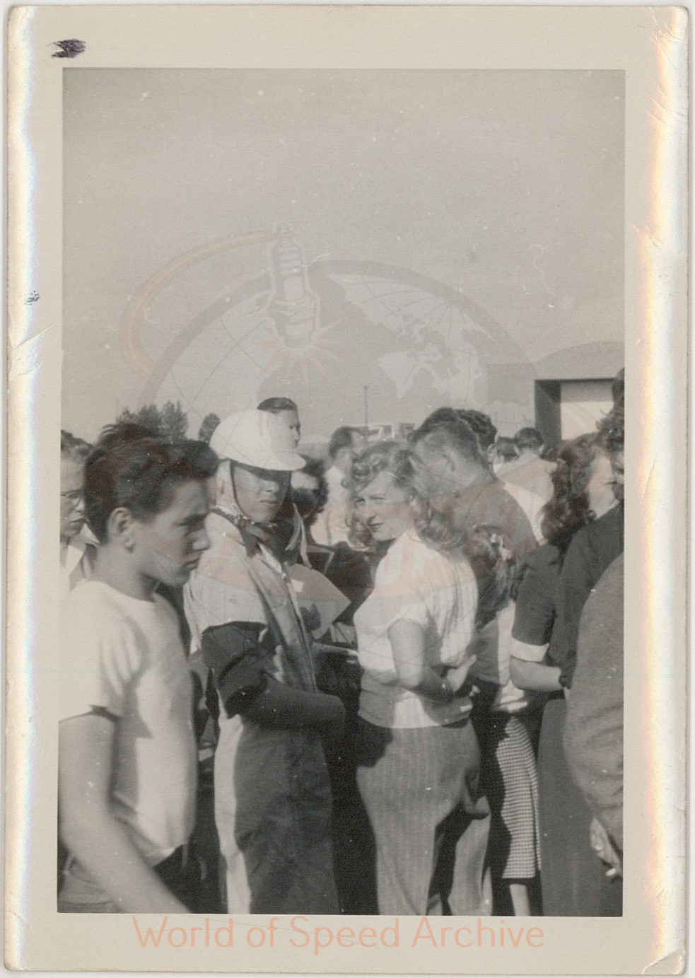 WOS#3786 - GM07 p109: Jimmy Martin, wearing helmet, in crowd
