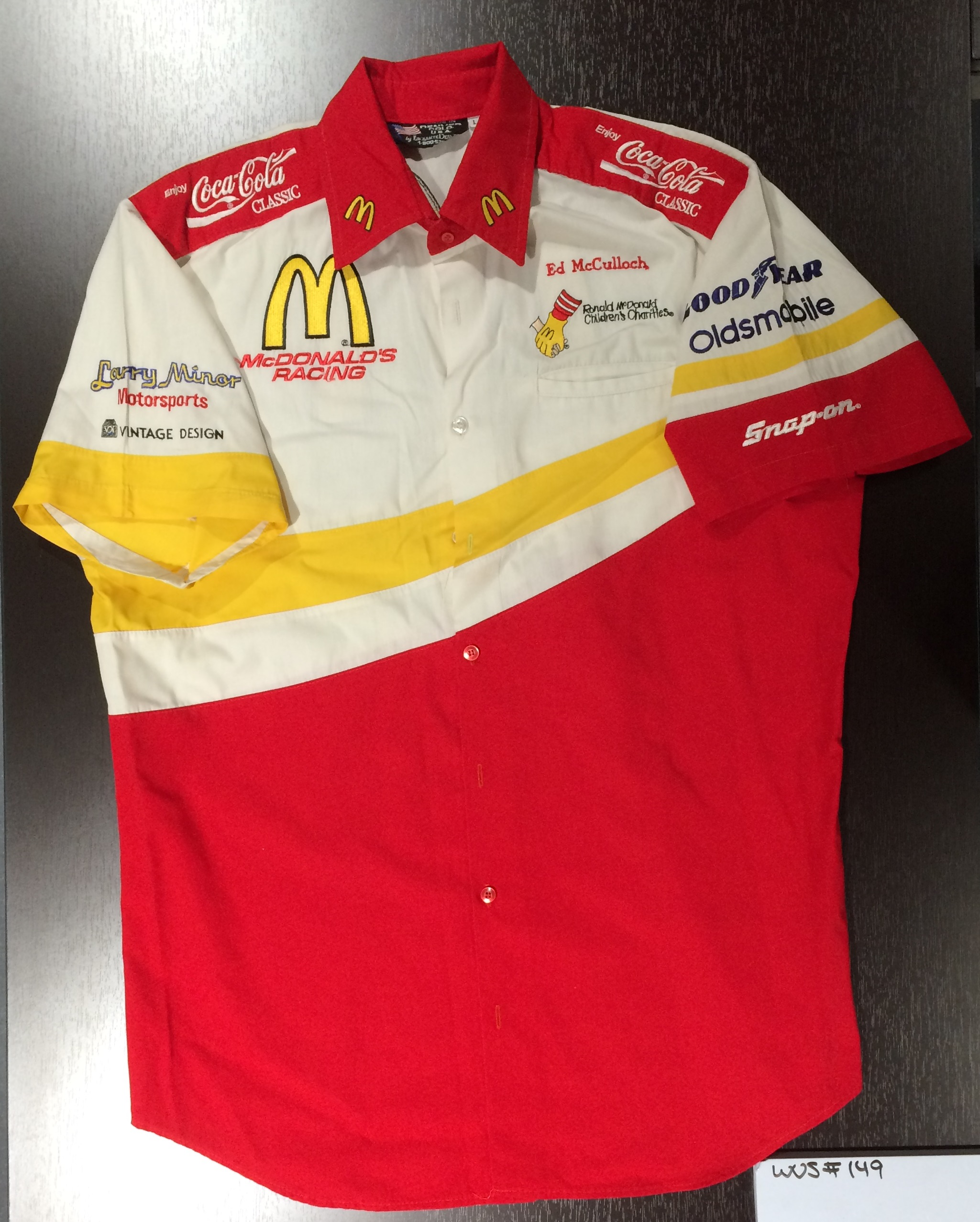 Ed McCulloch, Ronald McDonald Children's Charity, Larry Minor Motorsports Buttondown Shirt; WOS#0149