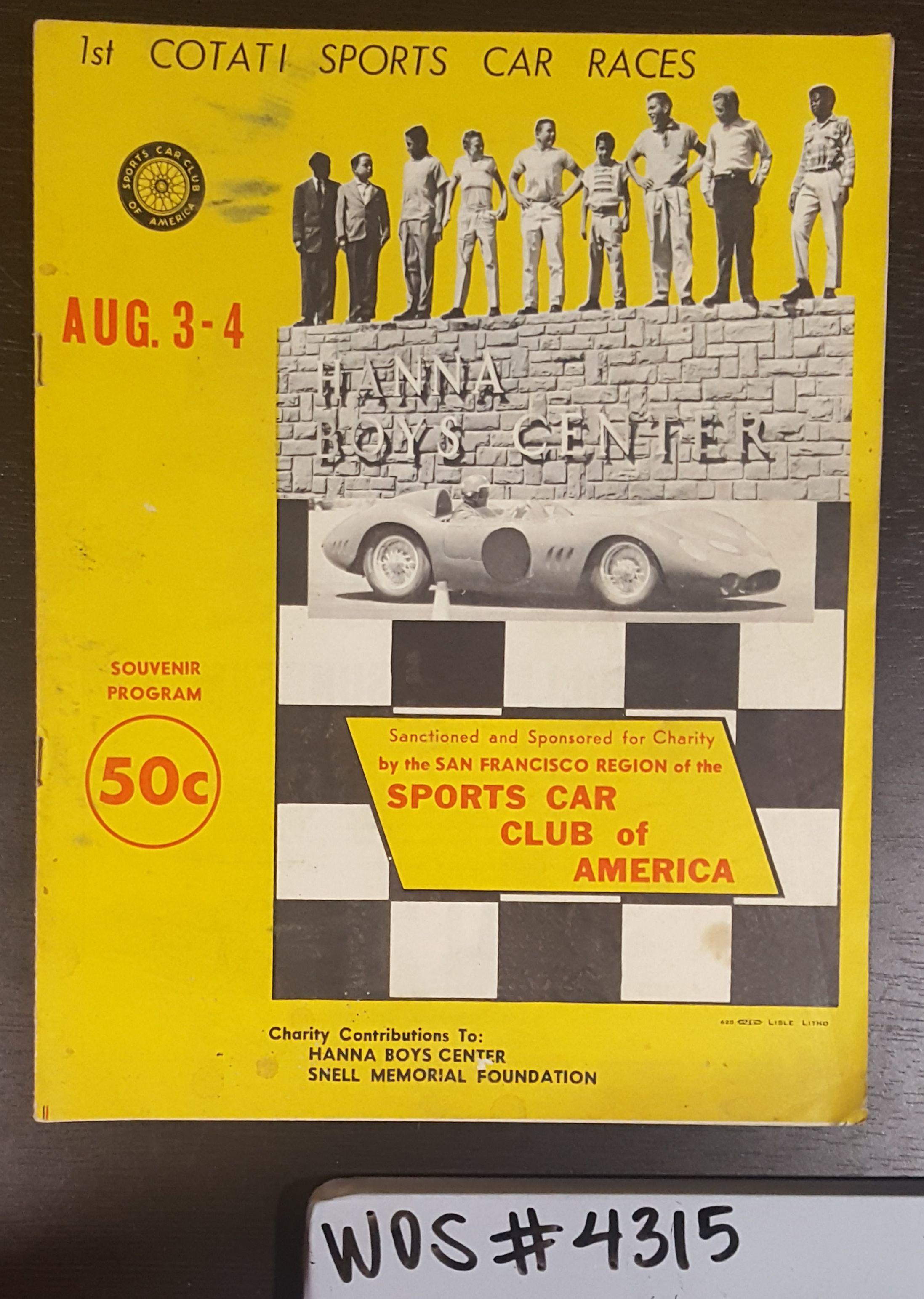 Program cover, Cotati Sports Car Races, 1957; WOS#4315