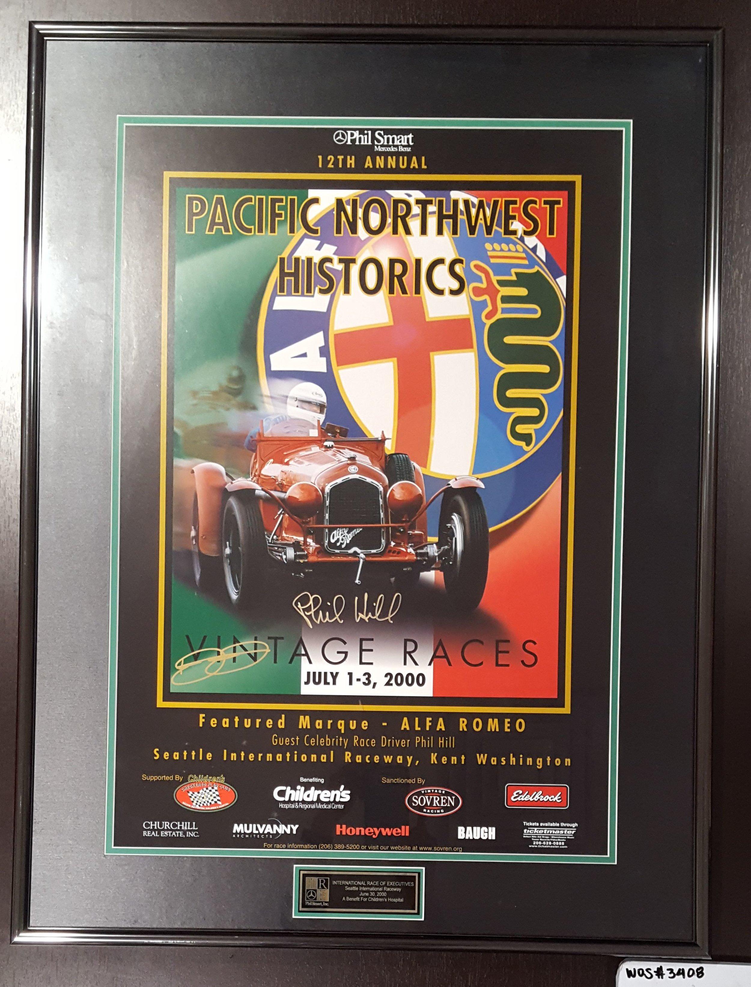 Phil Smart Mercedes-Benz Vintage Races Poster, 2000; WOS#3408
