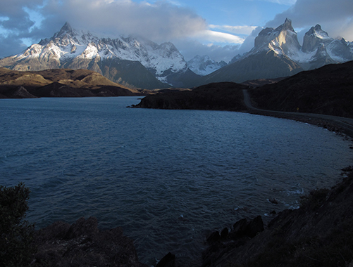 filming pumas in torres del paine np, chile