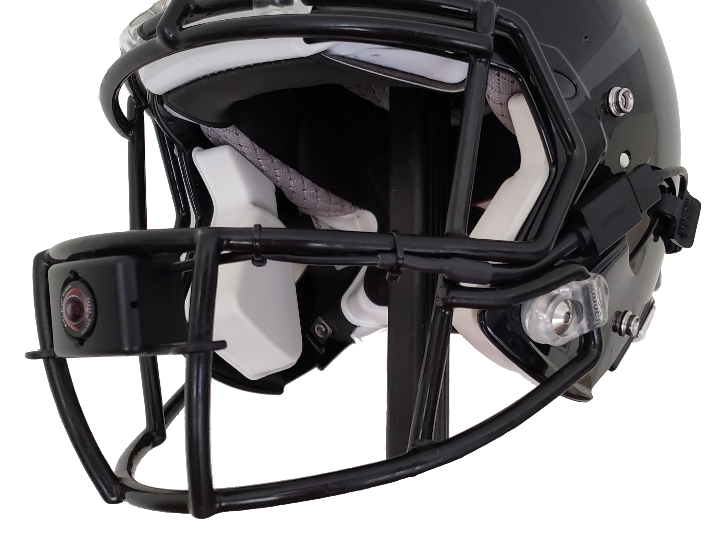 Facemask Camera seamlessly mounted to a helmet