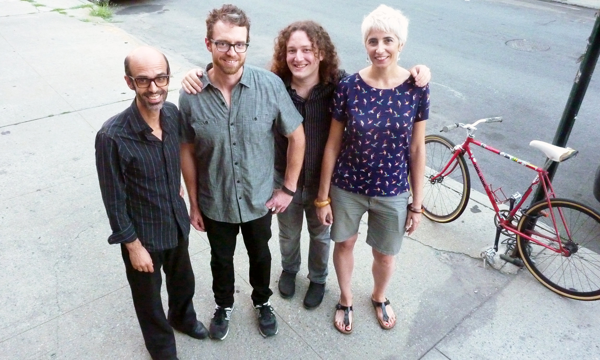 with Ditmas Quartet during our Live At IBeam recording  from Left to Right: Michaël Attias, Jeff Davis, Max Johnson, Eva Novoa