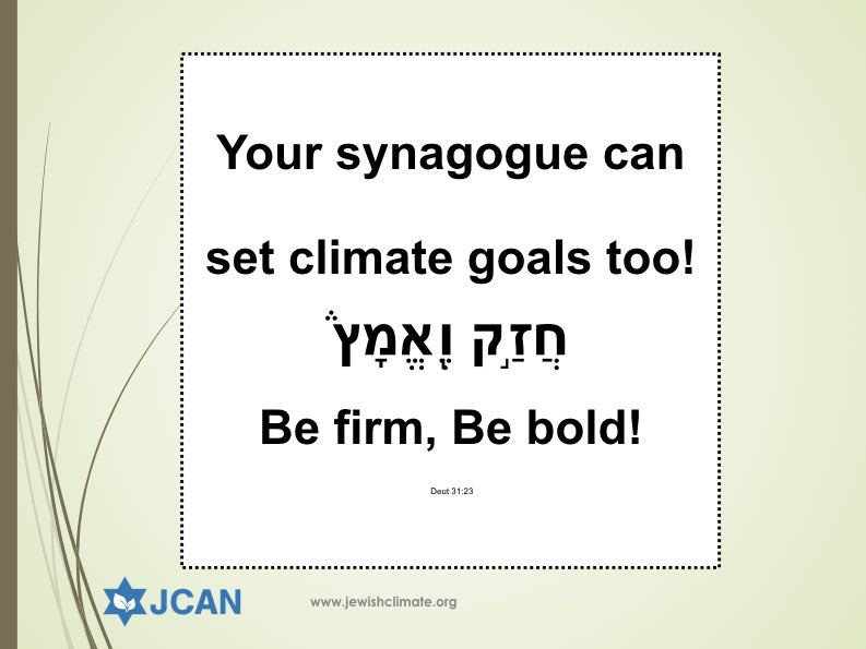 Goals guide your community. Test your climate chutzpah!