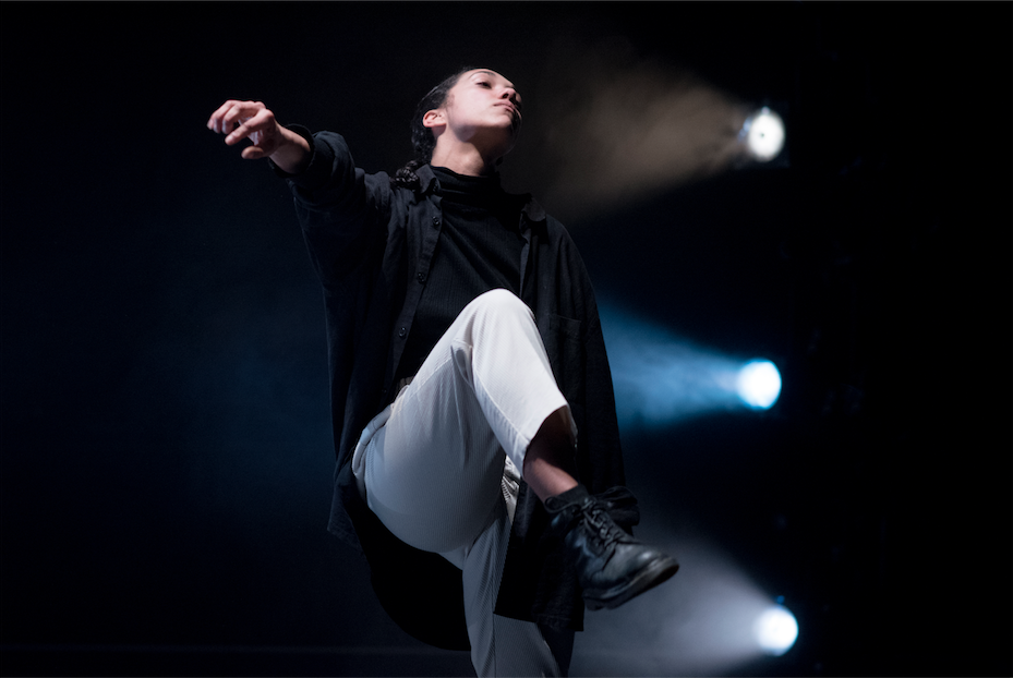 Maeva Berthelot performing at Neon Dance's Wild Card, Sadler's Wells (2018)