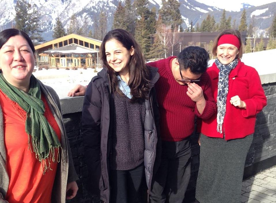 L-R: Mieko Ouchi, Natasha Greenblatt, Jovanni Sy, and me.