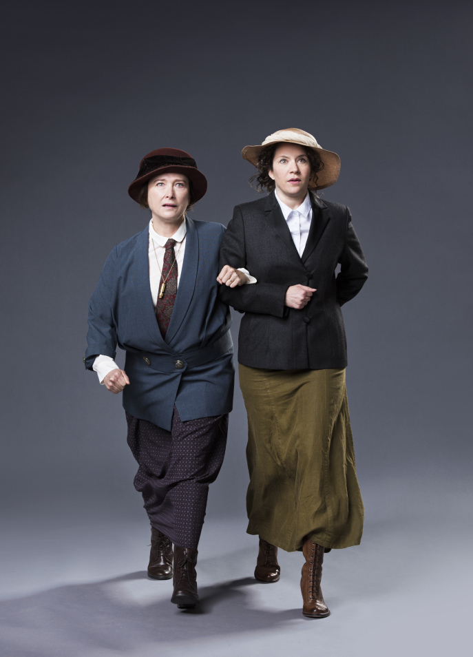 With marvellous Sarah Louise Turner. Photo by  Emily Cooper . Costumes by Barbara Clayden... but that's actually my hat.