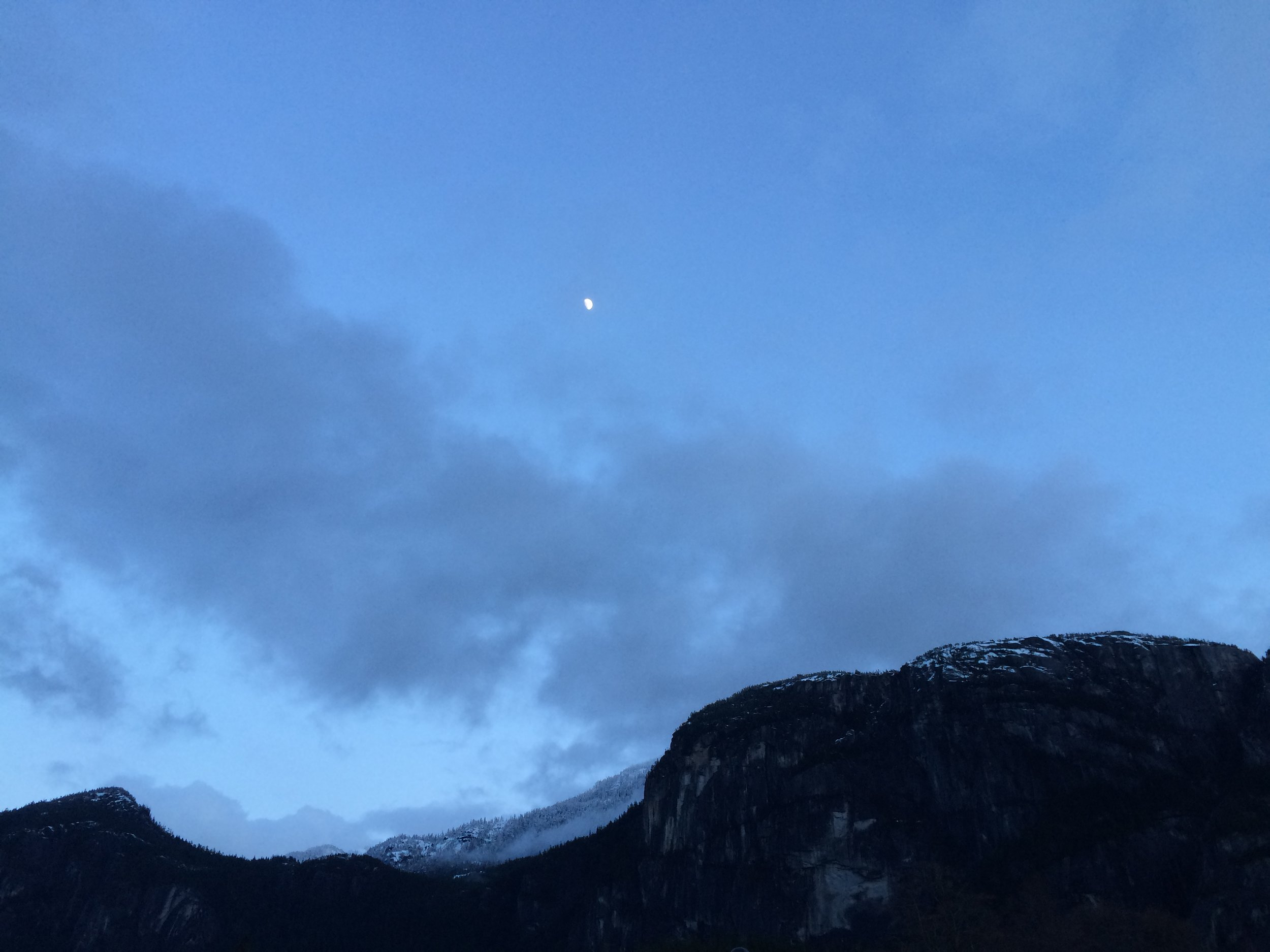 First blue sky we saw in Squamish. Two weeks in. Worth it.