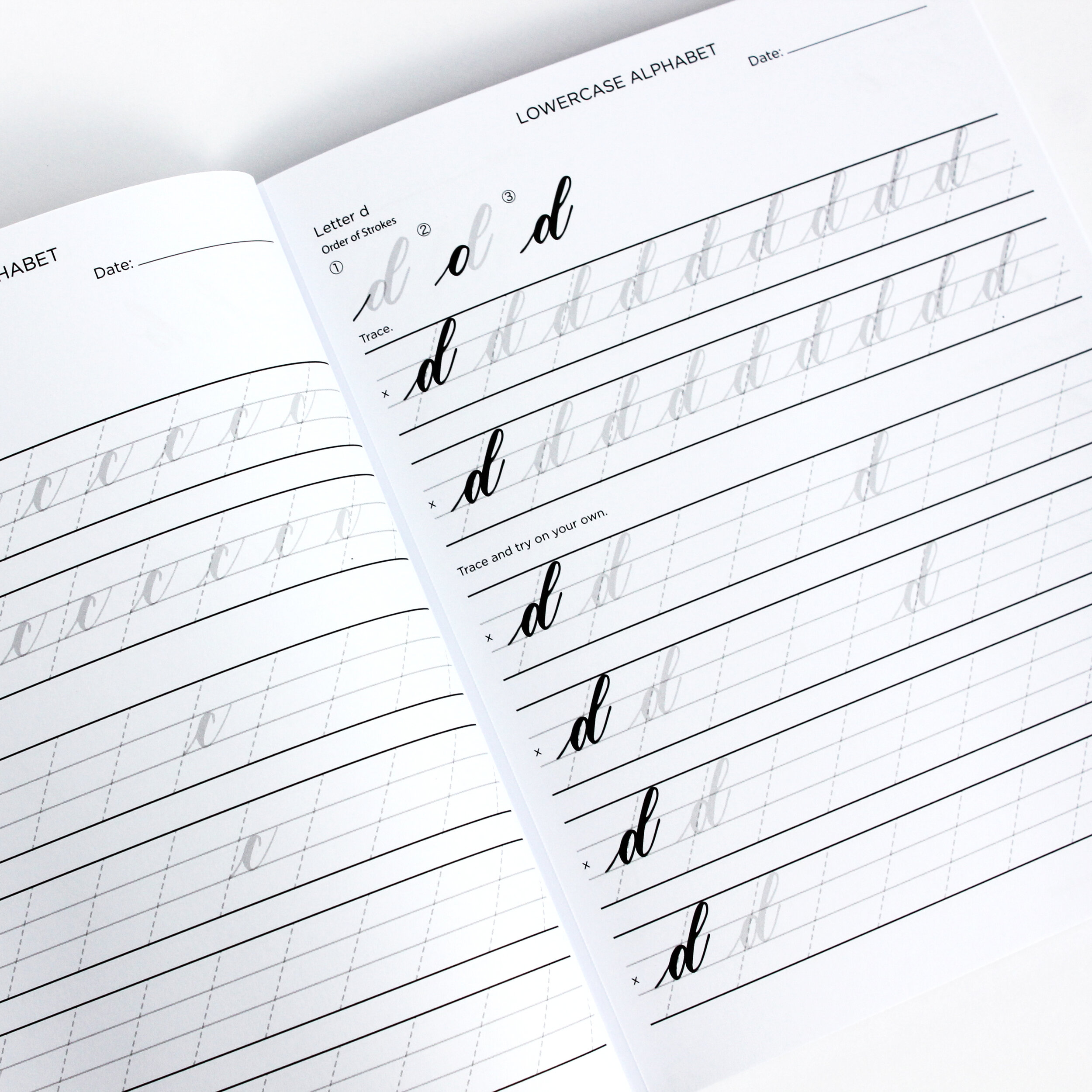 Brush Pen Lettering Practice Book by Grace Song