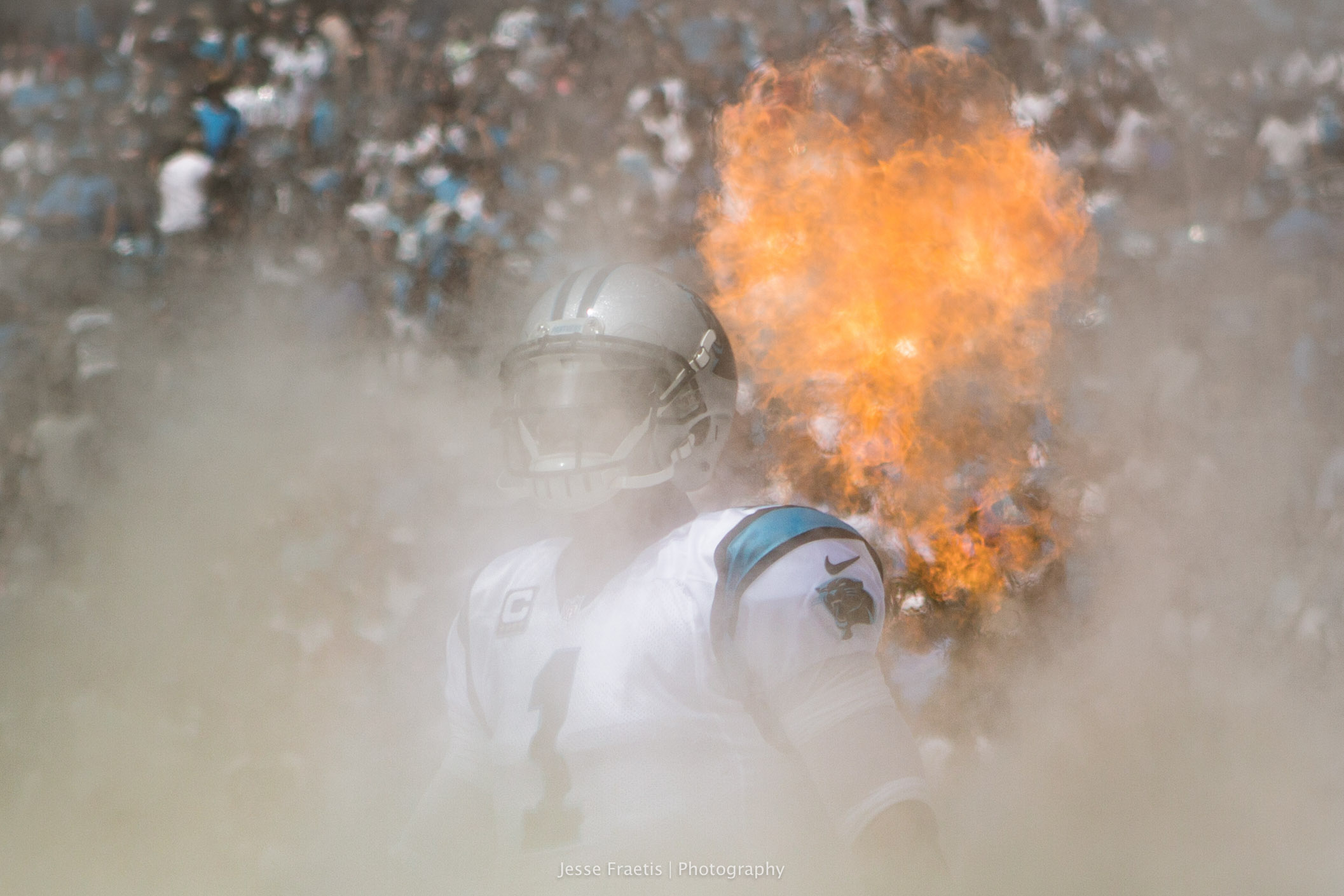 QB Cam Newton during introductions