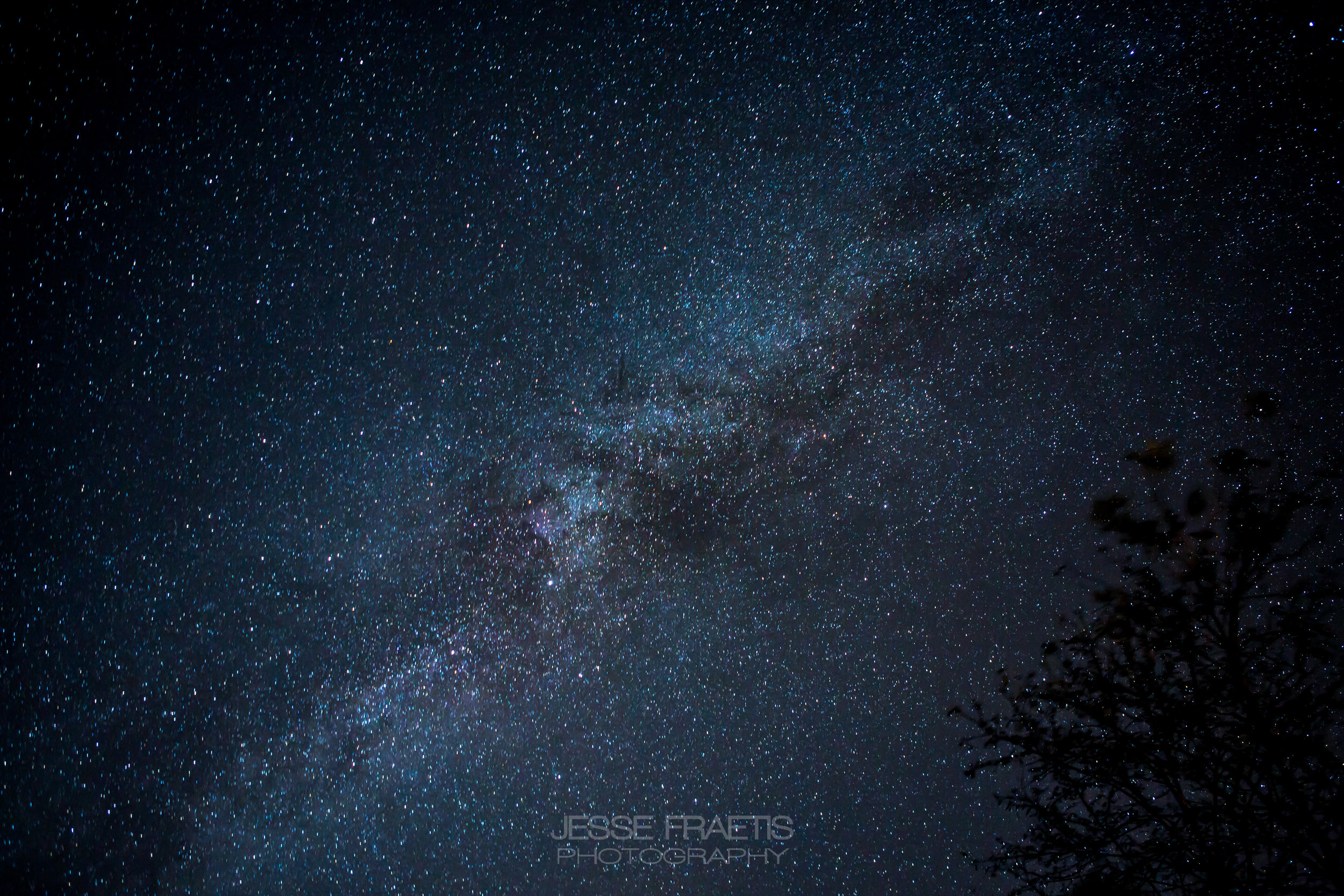 The Milky Way over 'Lake Lure' in North Carolina