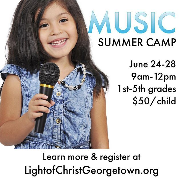 Music summer camp at the church! Please share!