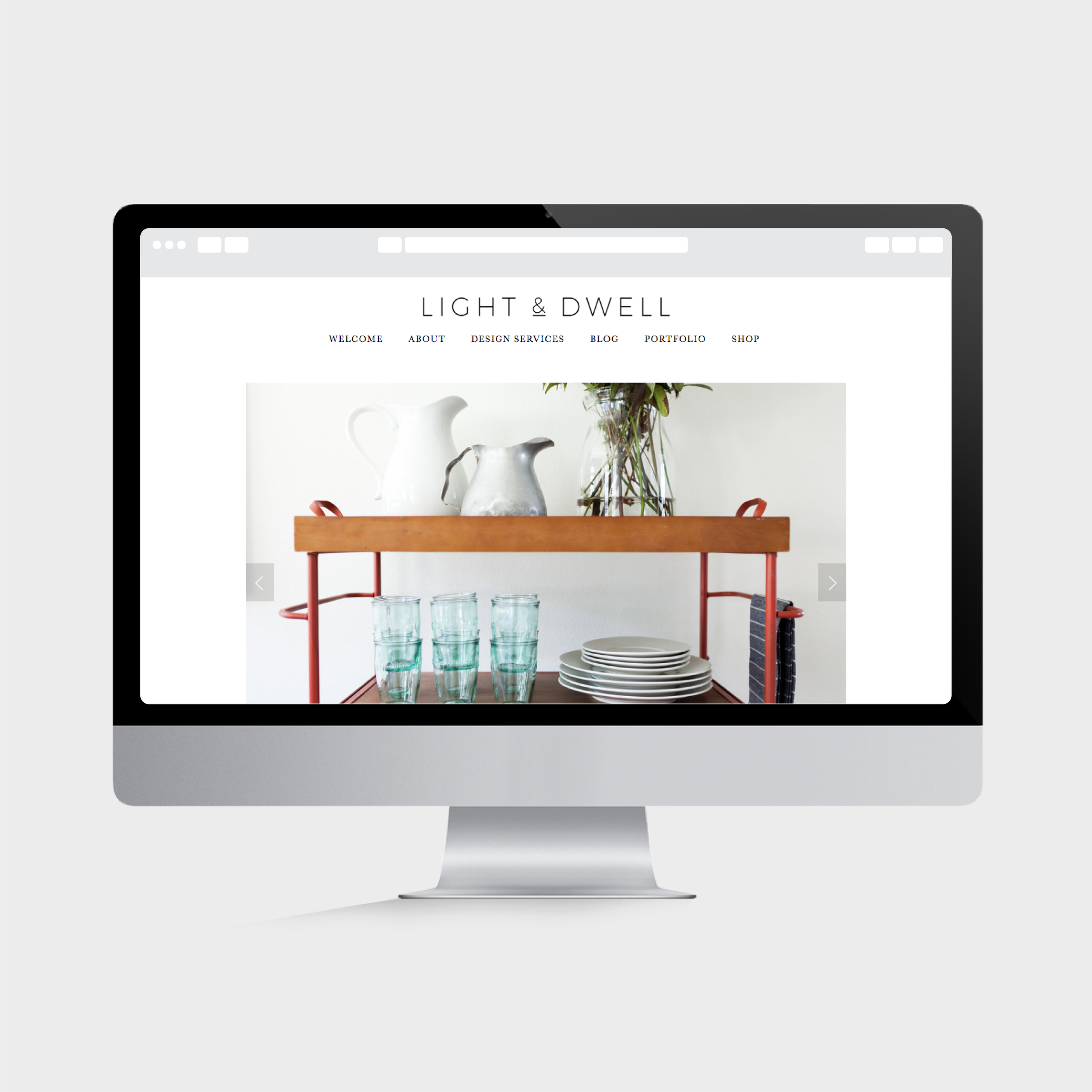 website homepage with logo & photos