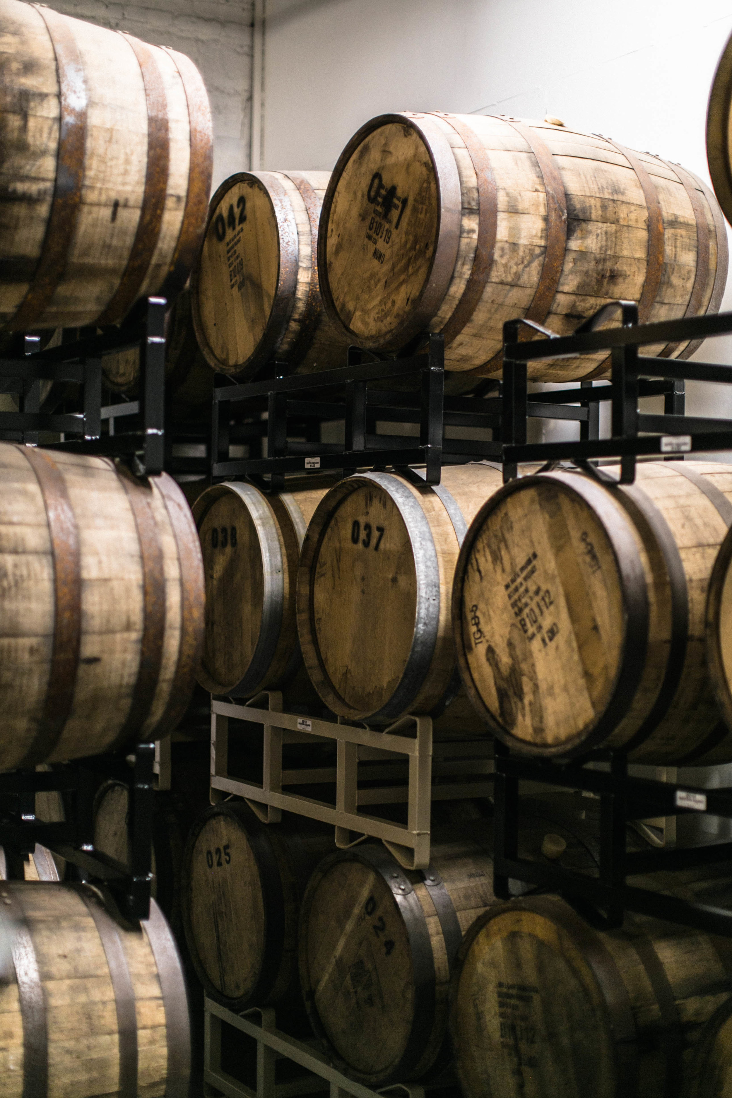 DeAngelo ages his Old Tom gin in bourbon barrels and Oloroso sherry casks.