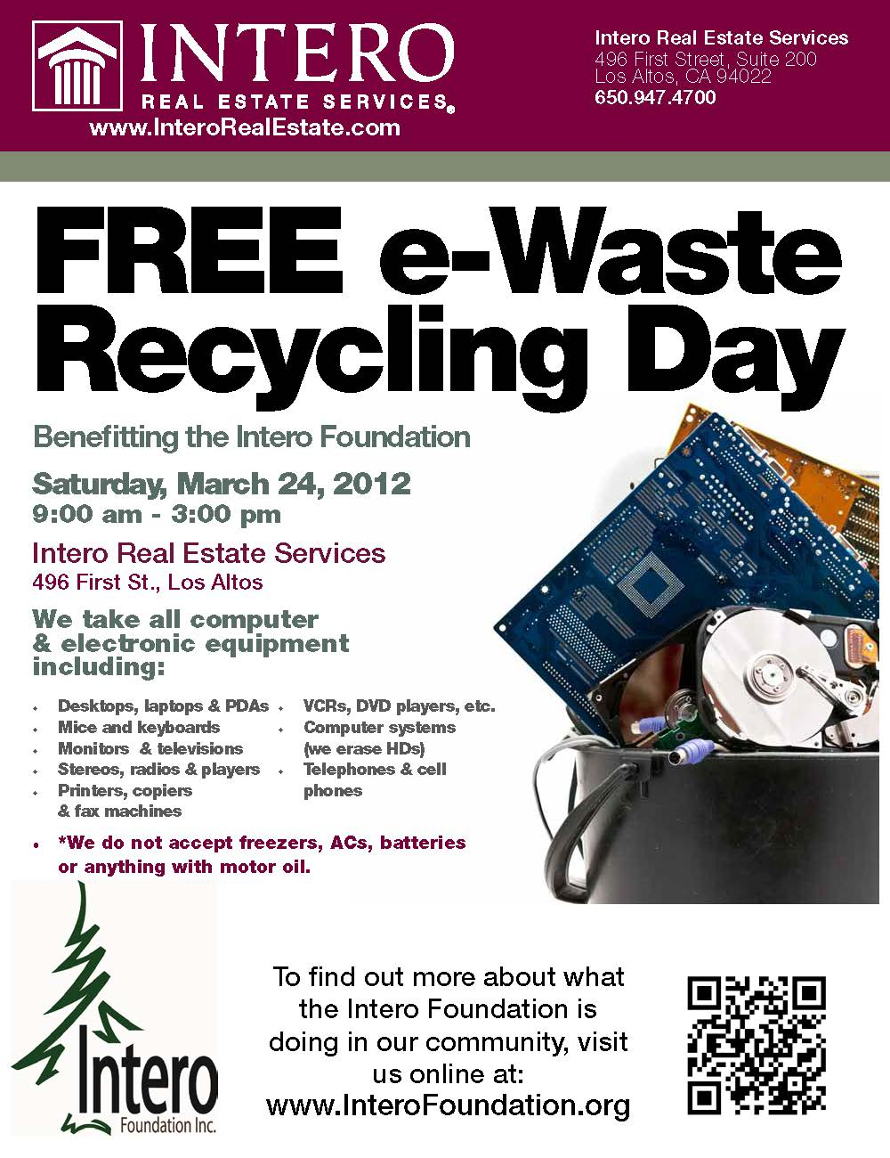 Recyle your Electronics on March 24th