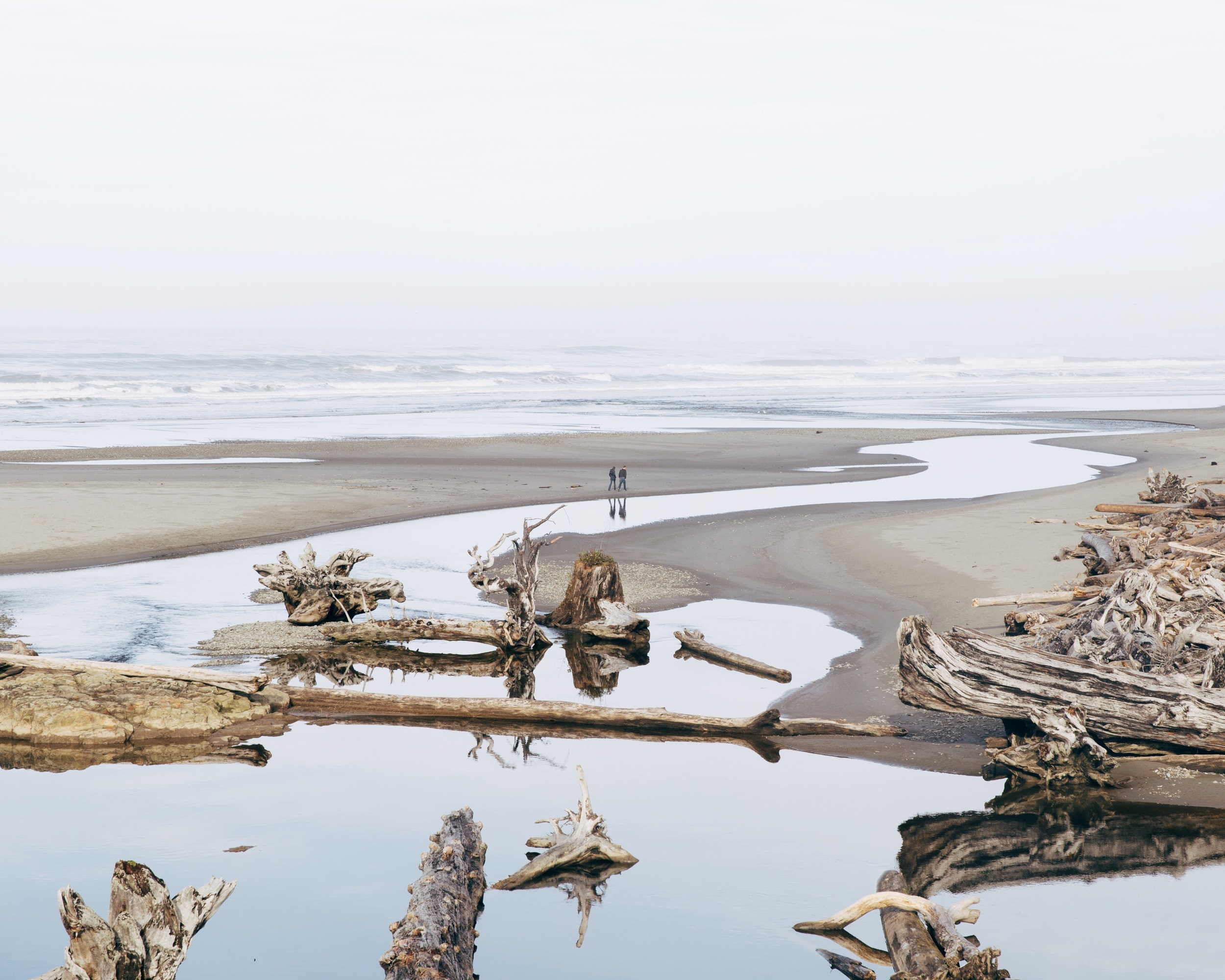 Couple at Kalaloch Beach